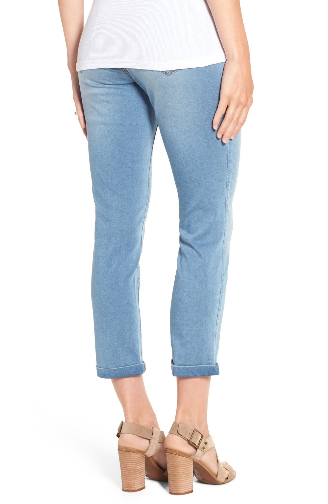'Ankle Biter' Over the Bump Rolled Cuff Maternity Skinny Jeans,                             Alternate thumbnail 2, color,                             452