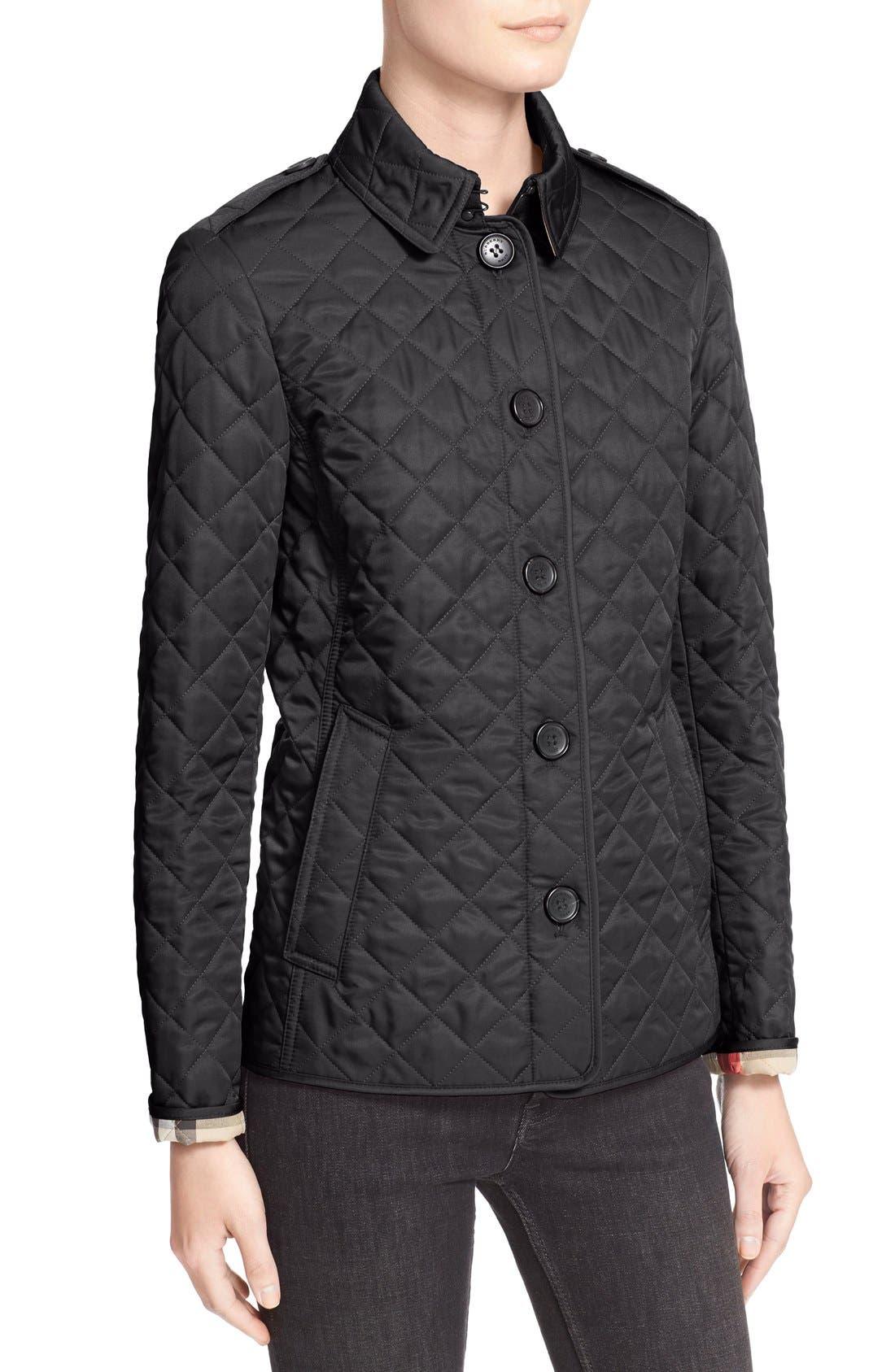Ashurst Quilted Jacket,                             Alternate thumbnail 7, color,                             BLACK