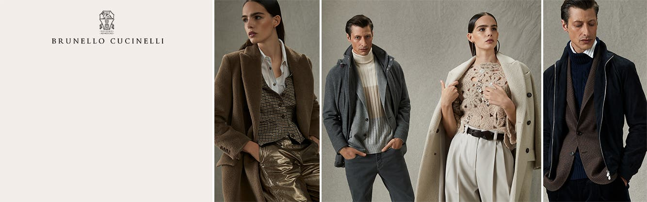 Brunello Cucinelli clothing for men and women.