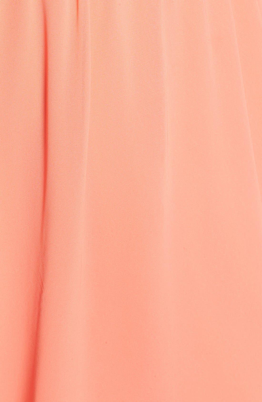 Blouson Chiffon Skater Dress,                             Alternate thumbnail 230, color,