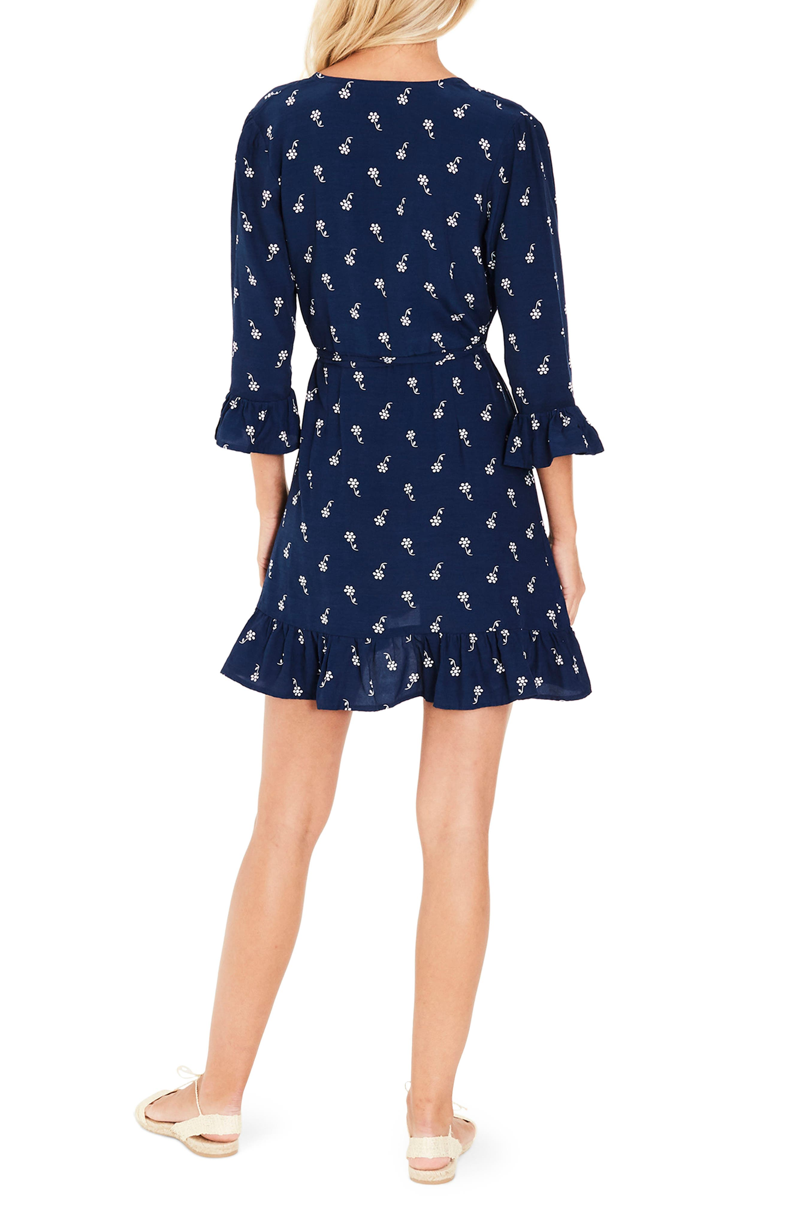 Carmel Vineyard Ruffle Trim Wrap Dress,                             Alternate thumbnail 2, color,                             401