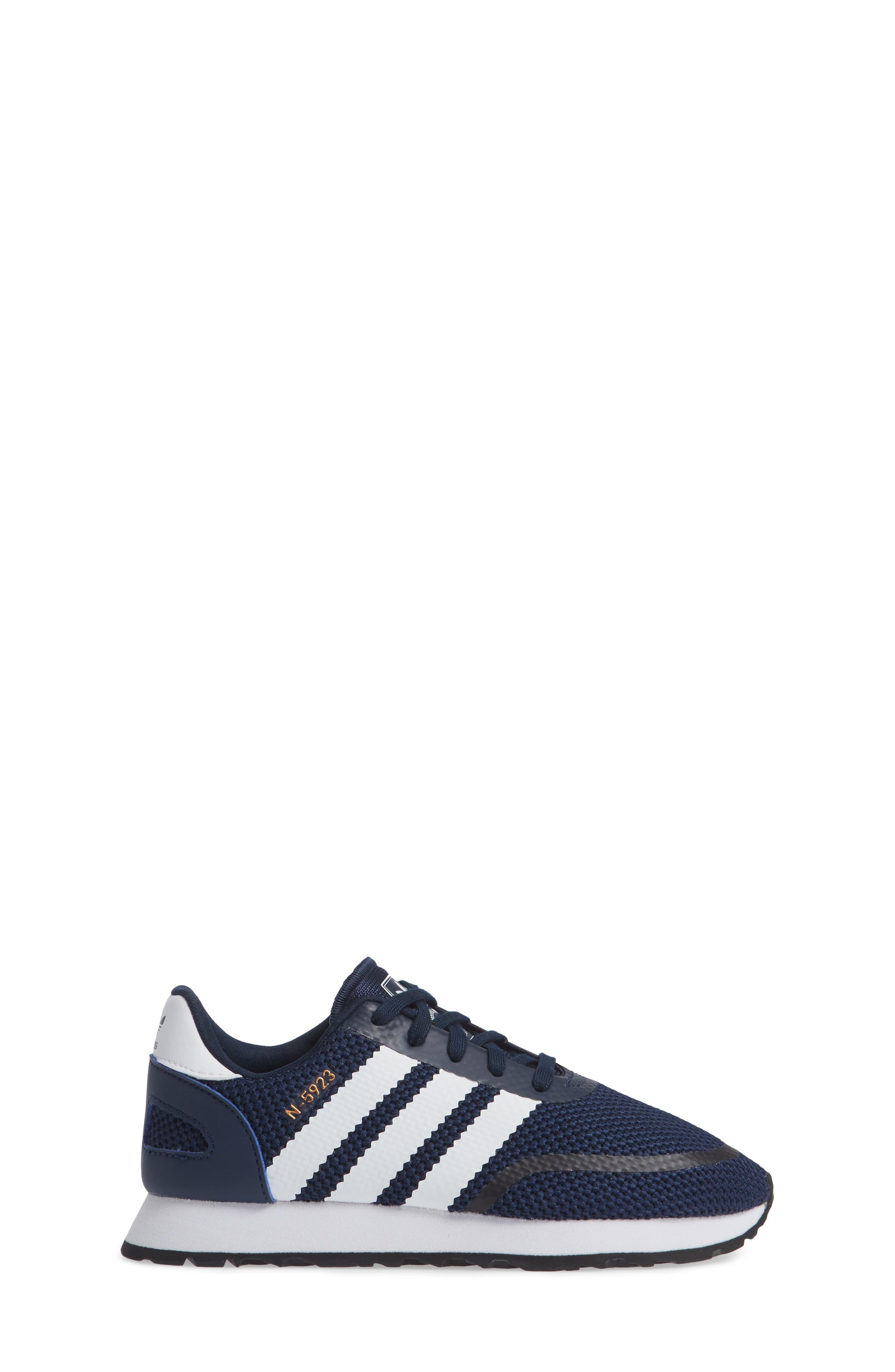 N-5923 Classic Sneaker,                             Alternate thumbnail 3, color,                             COLLEGIATE NAVY / WHITE