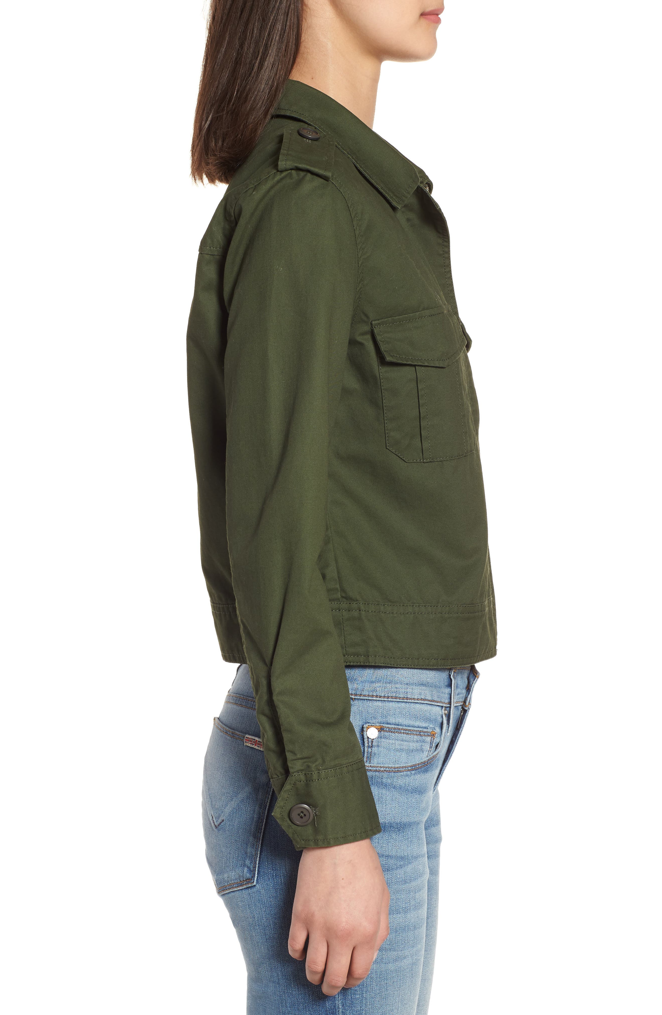 Maddox Cotton Twill Army Jacket,                             Alternate thumbnail 3, color,                             301