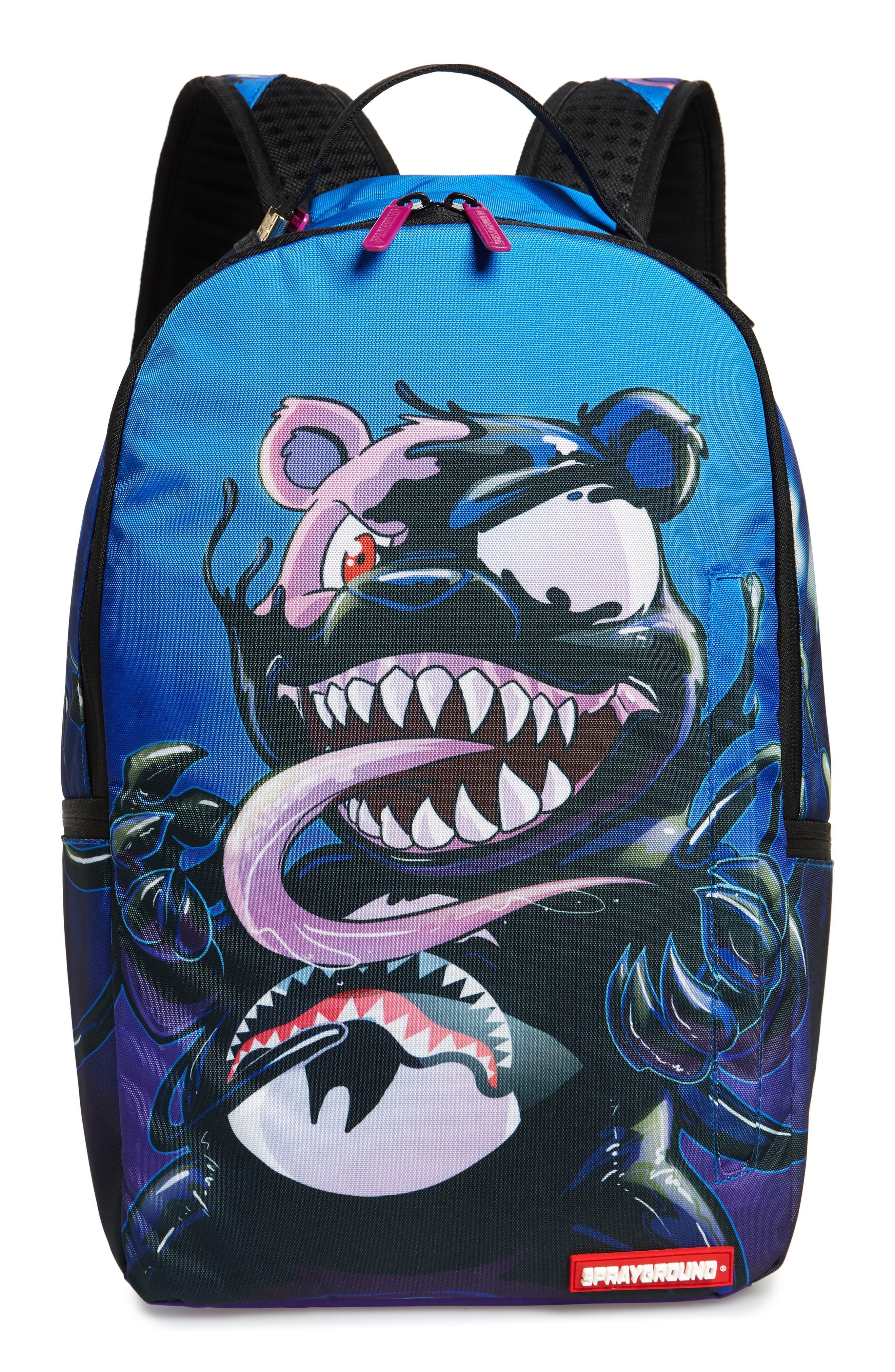 Villain Bear Print Backpack,                         Main,                         color, 400