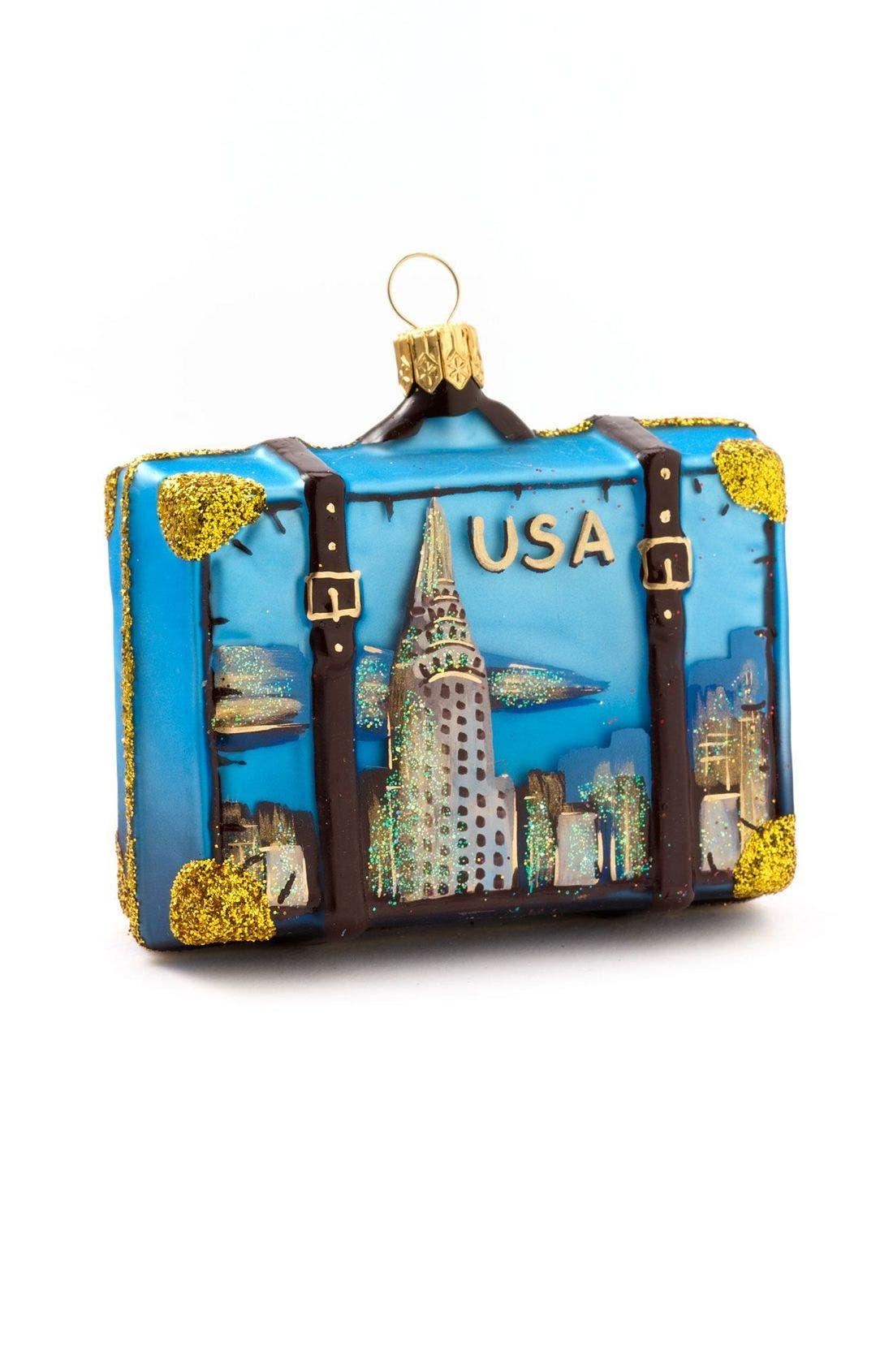 Nordstrom 'Washington D.C.' Glass Suitcase Ornament,                             Alternate thumbnail 2, color,                             960