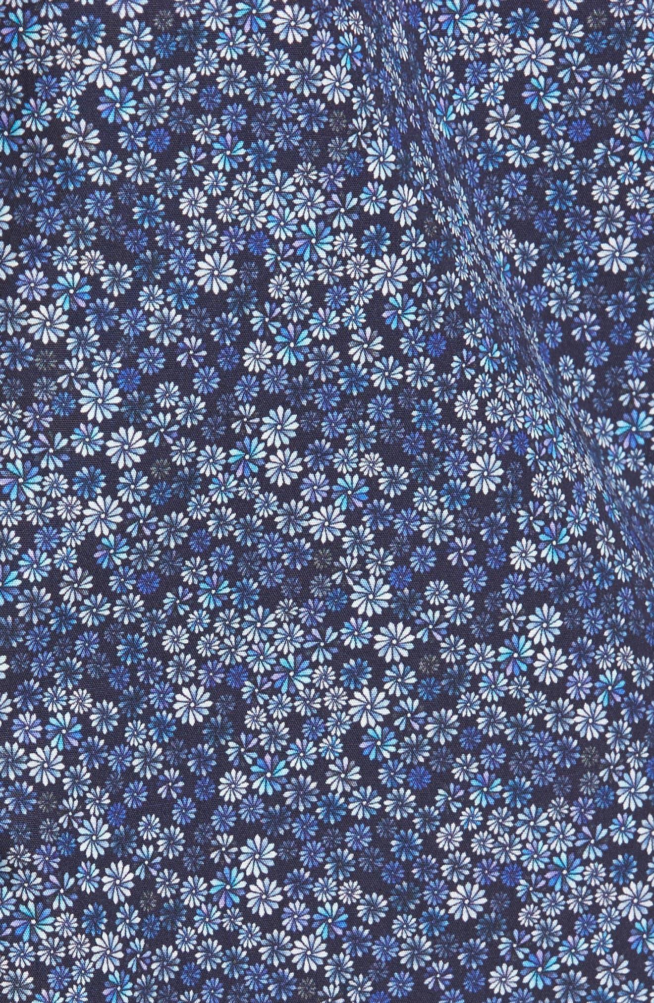 Classic Fit Floral Print Sport Shirt,                             Alternate thumbnail 5, color,                             410