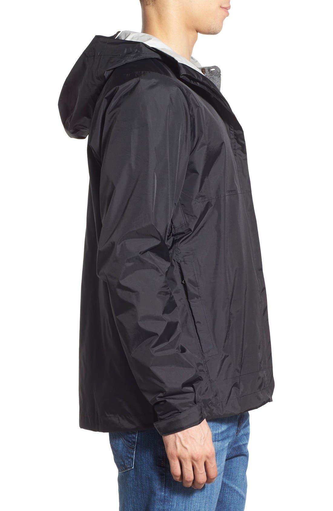 Torrentshell Packable Rain Jacket,                             Alternate thumbnail 3, color,                             BLACK