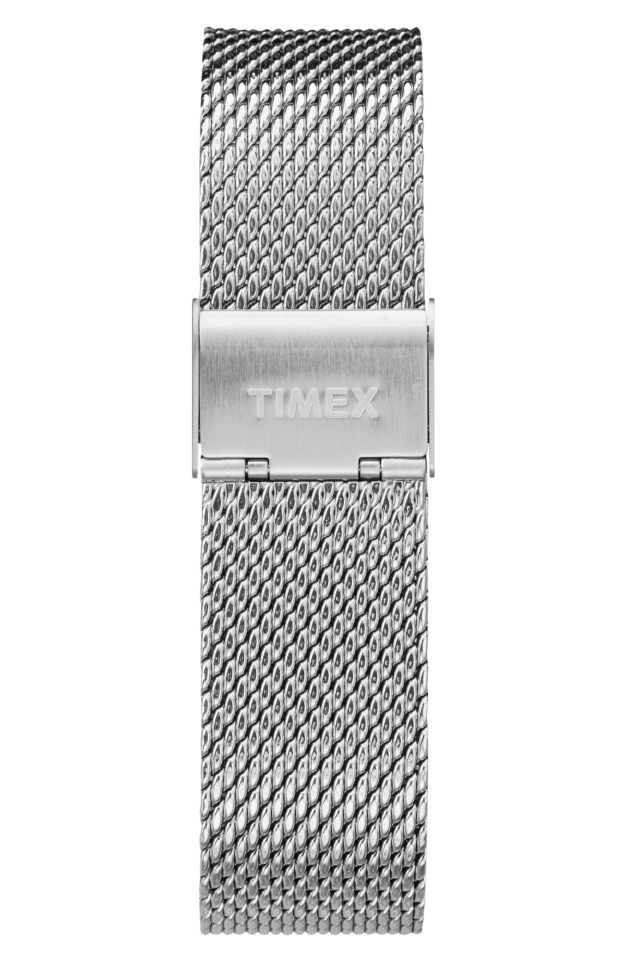 Fairfield Chronograph Mesh Strap Watch, 41mm,                             Alternate thumbnail 3, color,                             SILVER/ WHITE/ SILVER