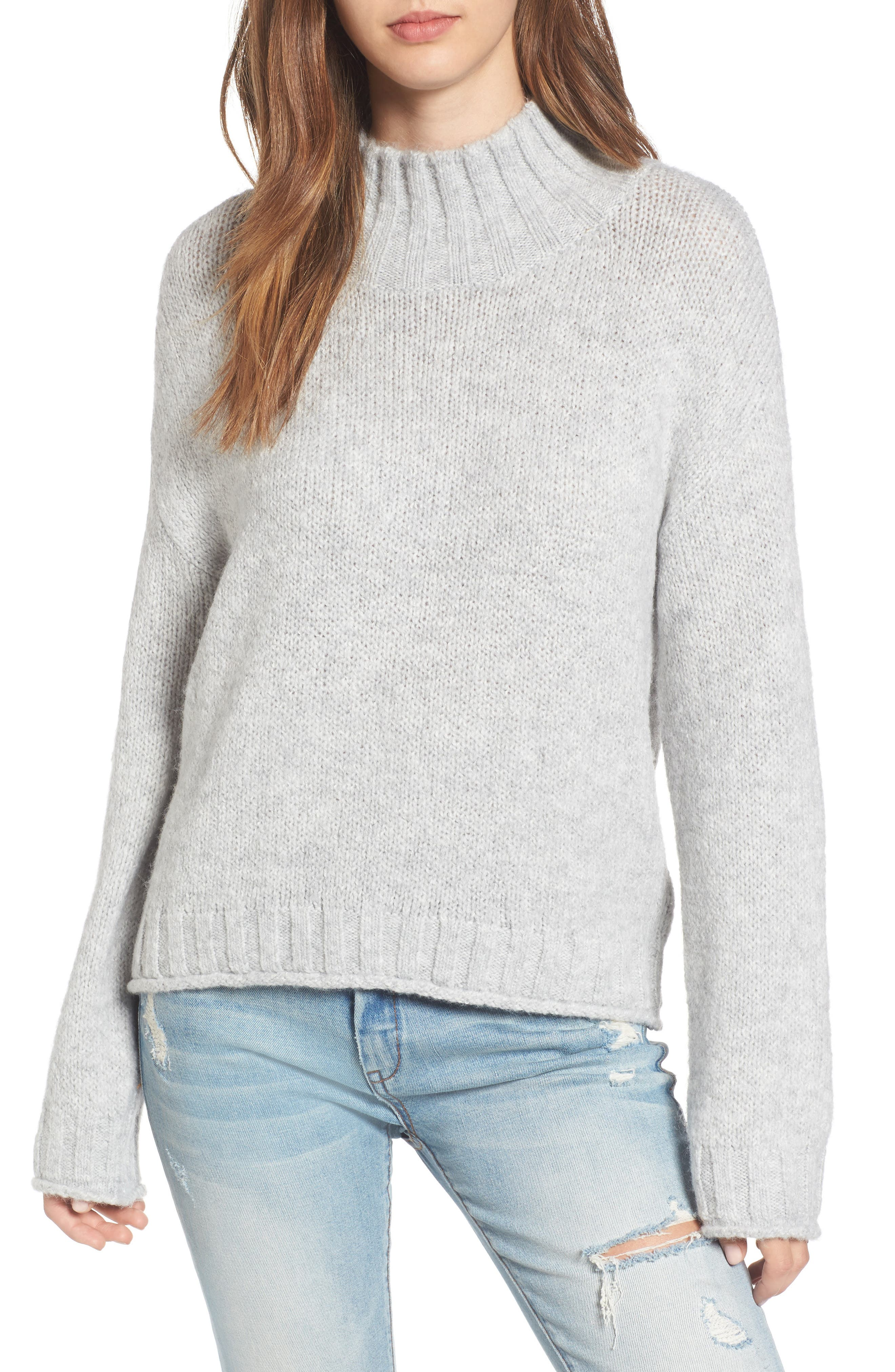 Cozy Mock Neck Sweater,                             Main thumbnail 4, color,
