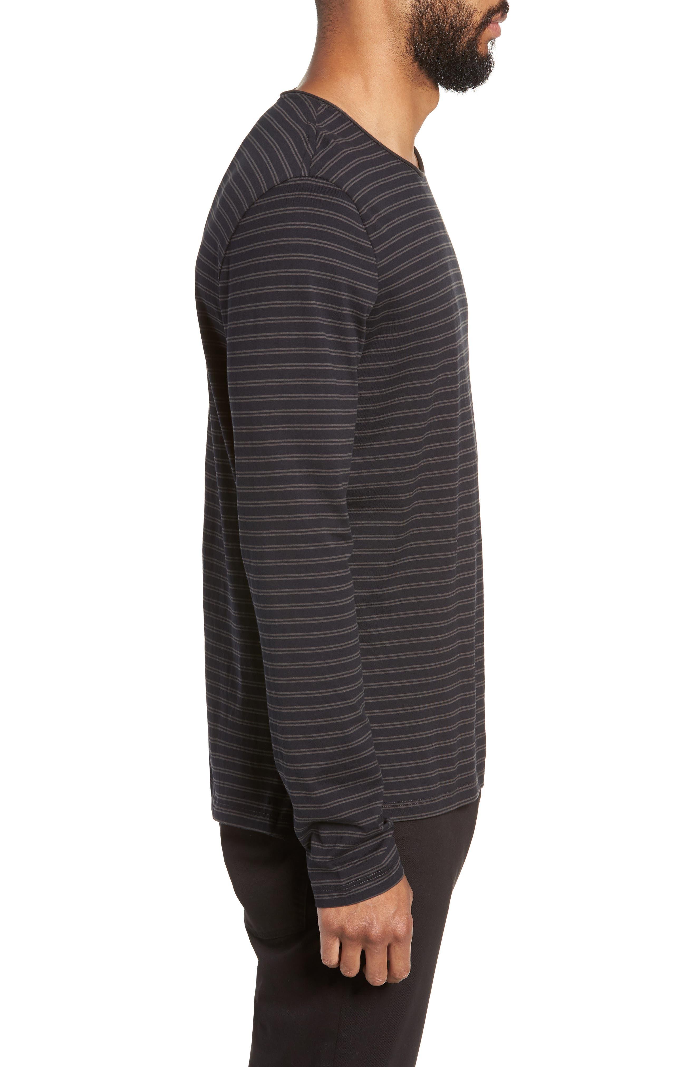 Double Stripe Long Sleeve T-Shirt,                             Alternate thumbnail 3, color,                             400