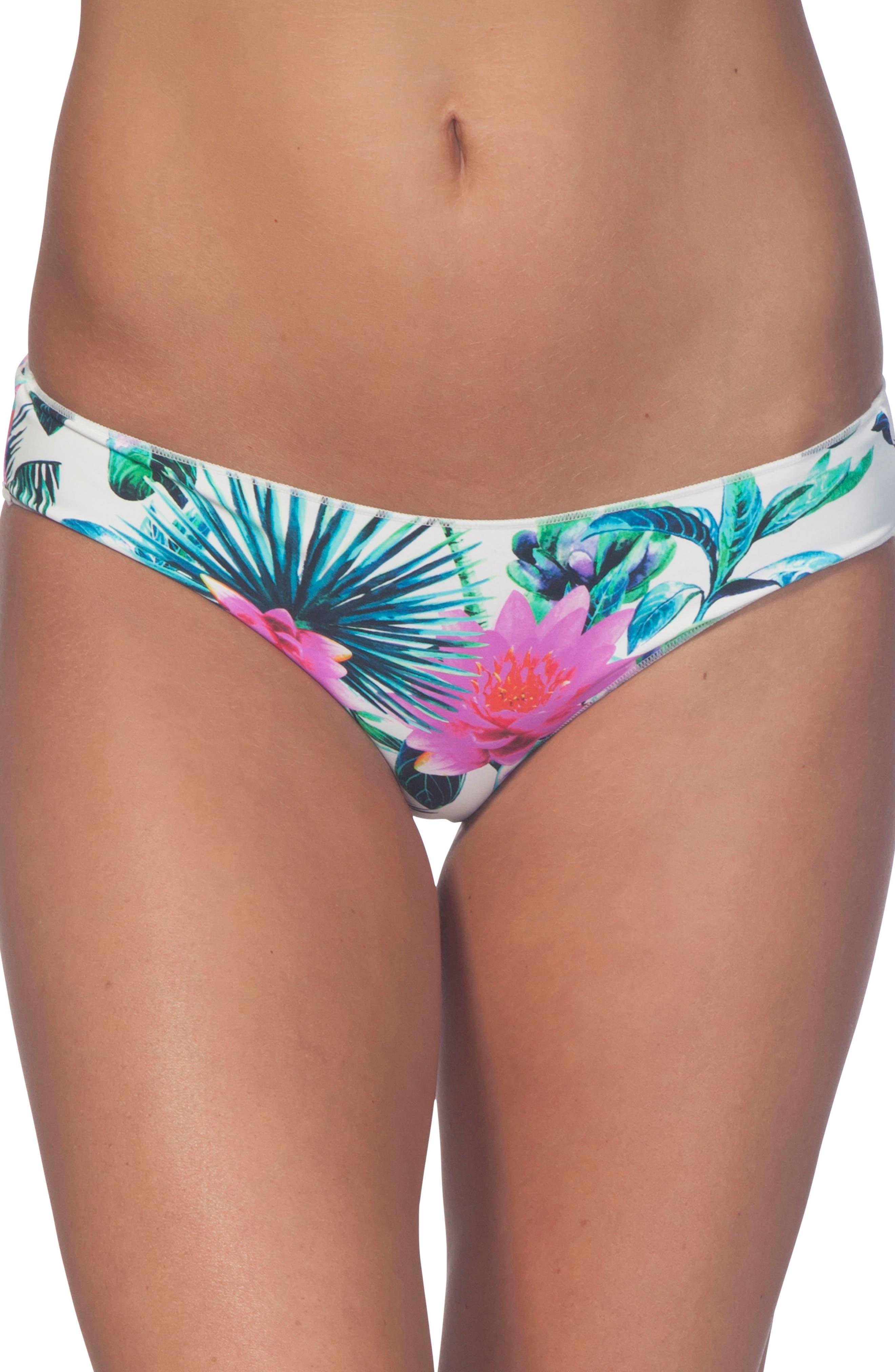 Palms Away Hipster Bikini Bottoms,                             Main thumbnail 1, color,                             100