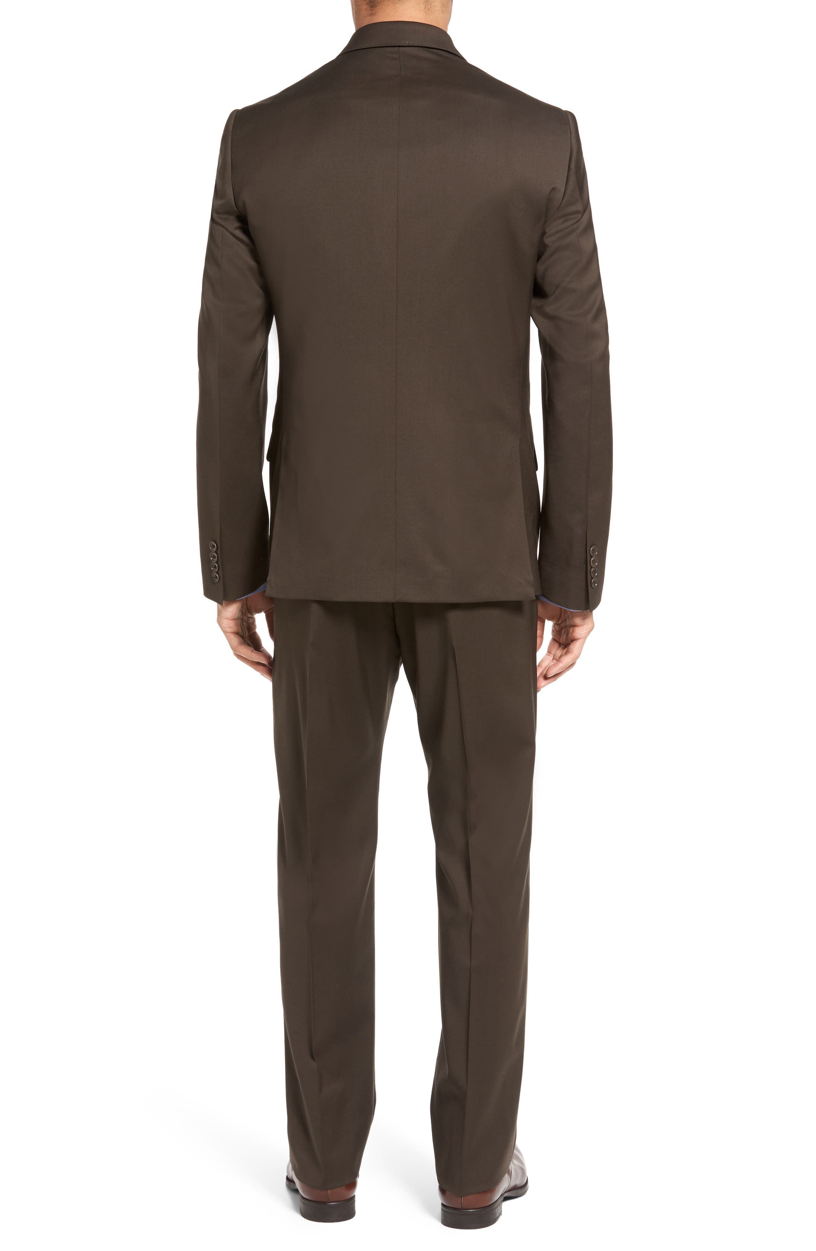 Classic Fit Solid Wool Suit,                             Alternate thumbnail 9, color,