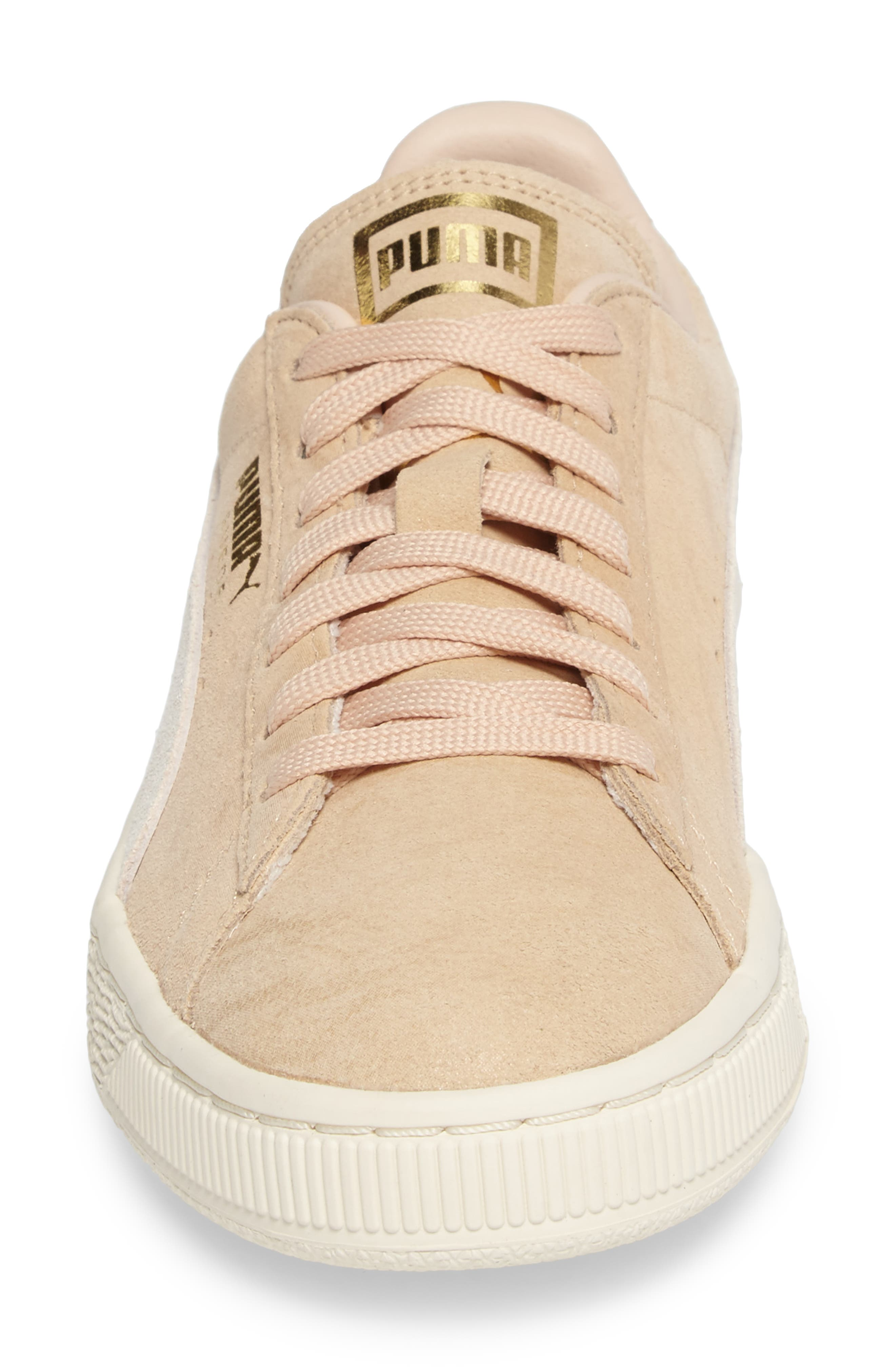 Suede Classic Shine Sneaker,                             Alternate thumbnail 4, color,                             250