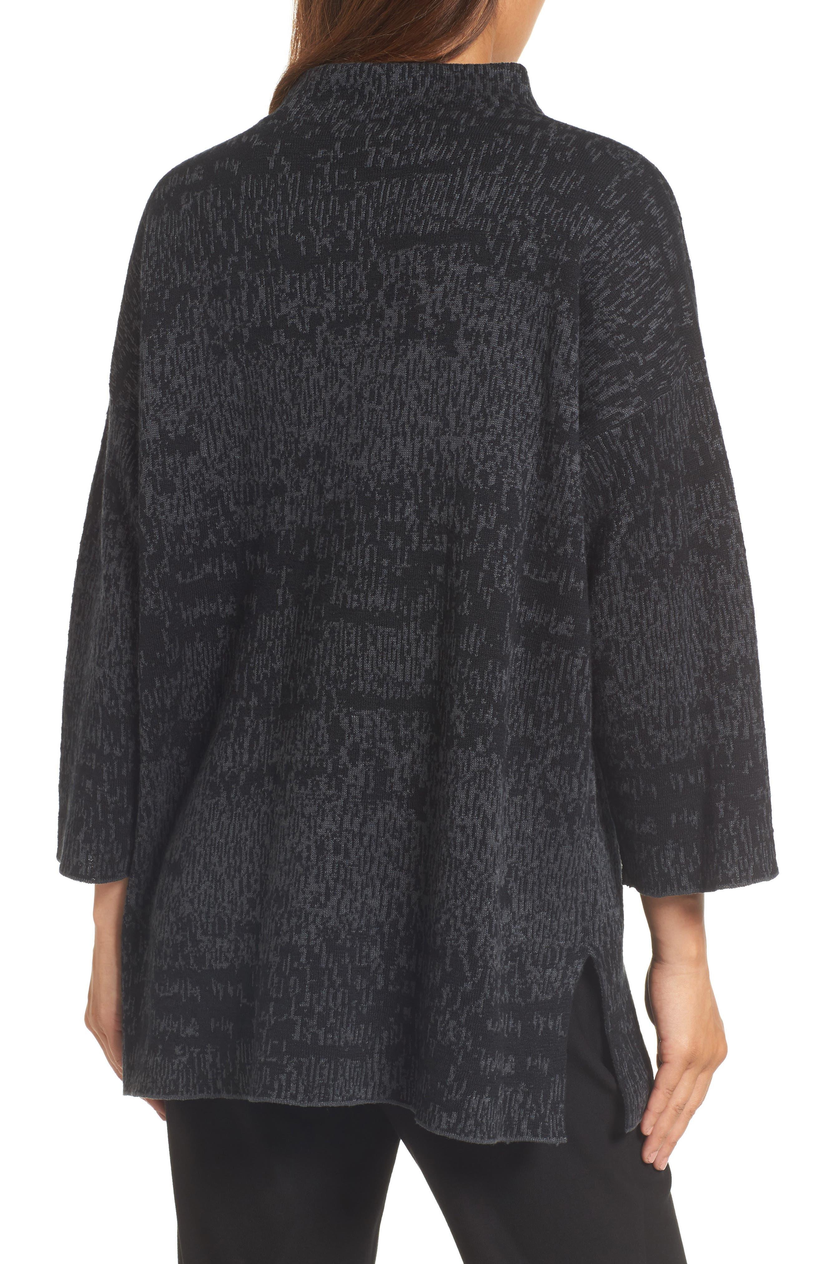 Funnel Neck Organic Linen Blend Sweater,                             Alternate thumbnail 2, color,                             021