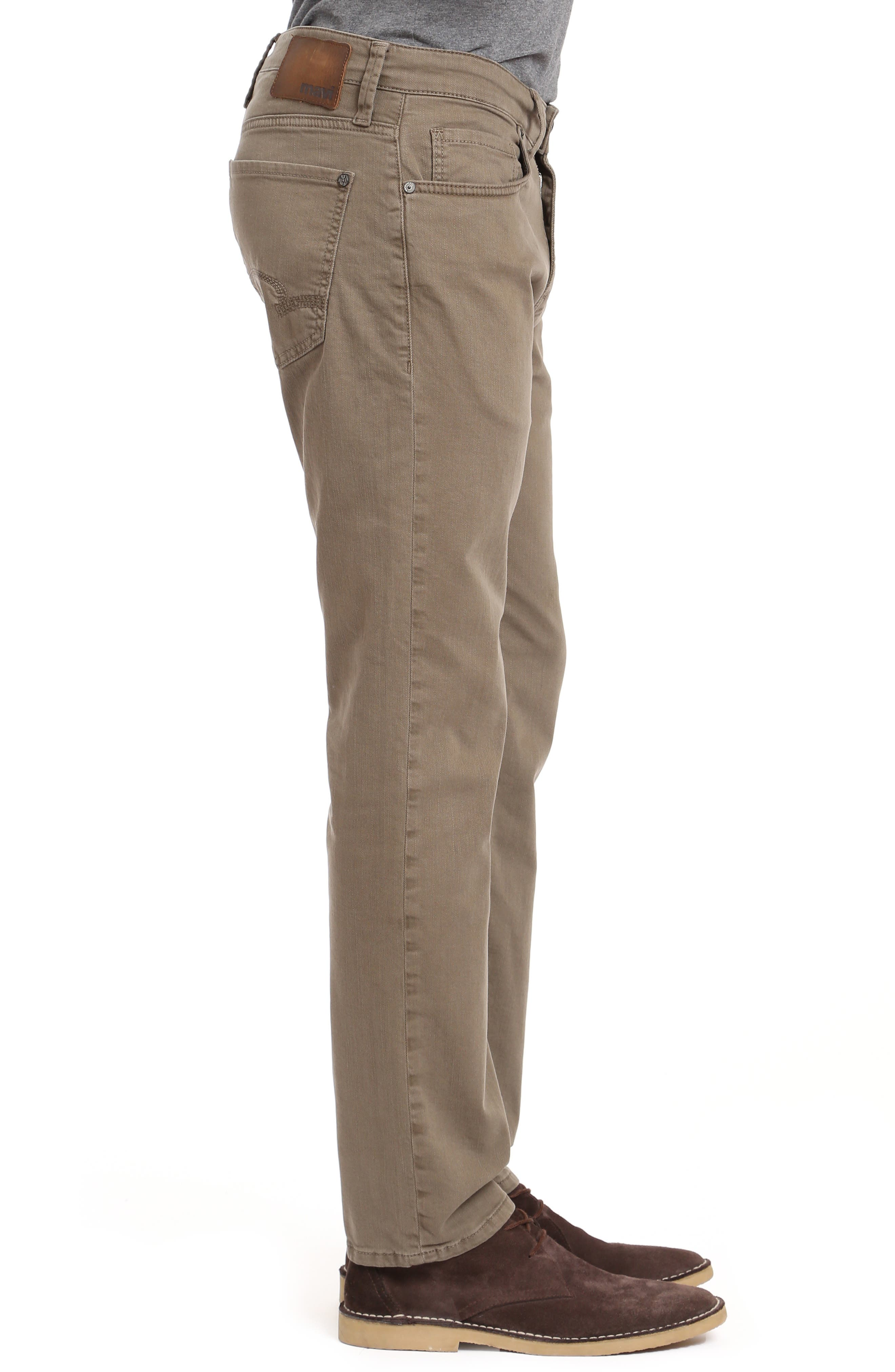 Zach Straight Leg Jeans,                             Alternate thumbnail 3, color,                             KHAKI WASHED COMFORT