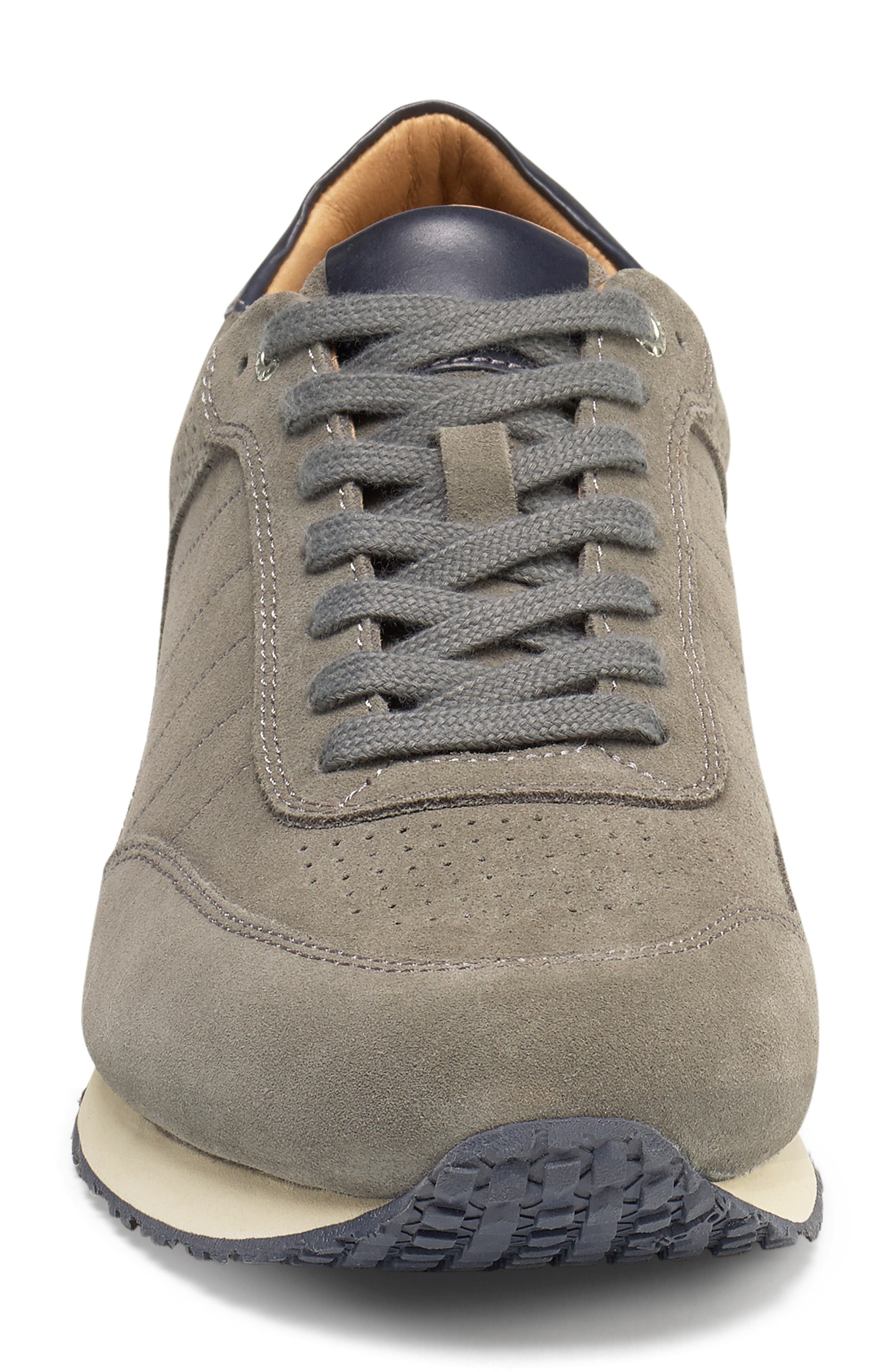 Aiden Sneaker,                             Alternate thumbnail 4, color,                             GREY SUEDE