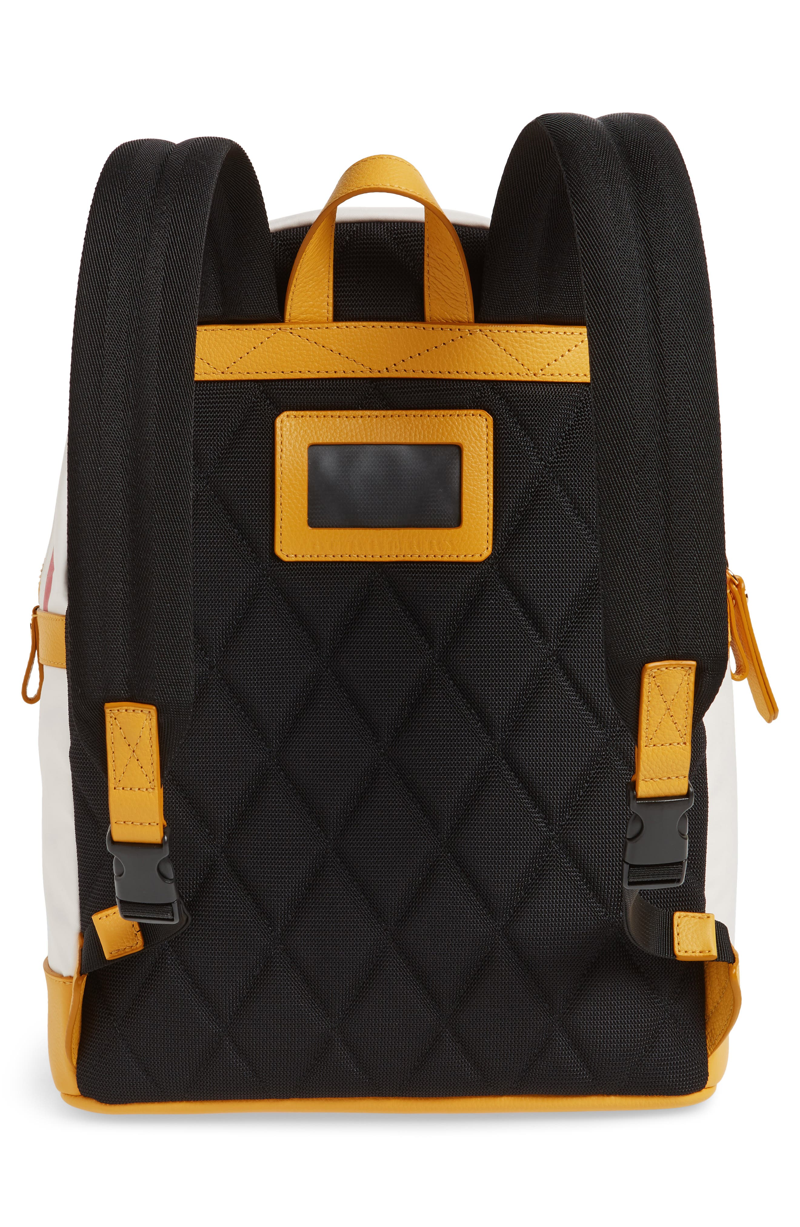 Burberrry Graphic Canvas Backpack,                             Alternate thumbnail 2, color,                             LARCH YELLOW
