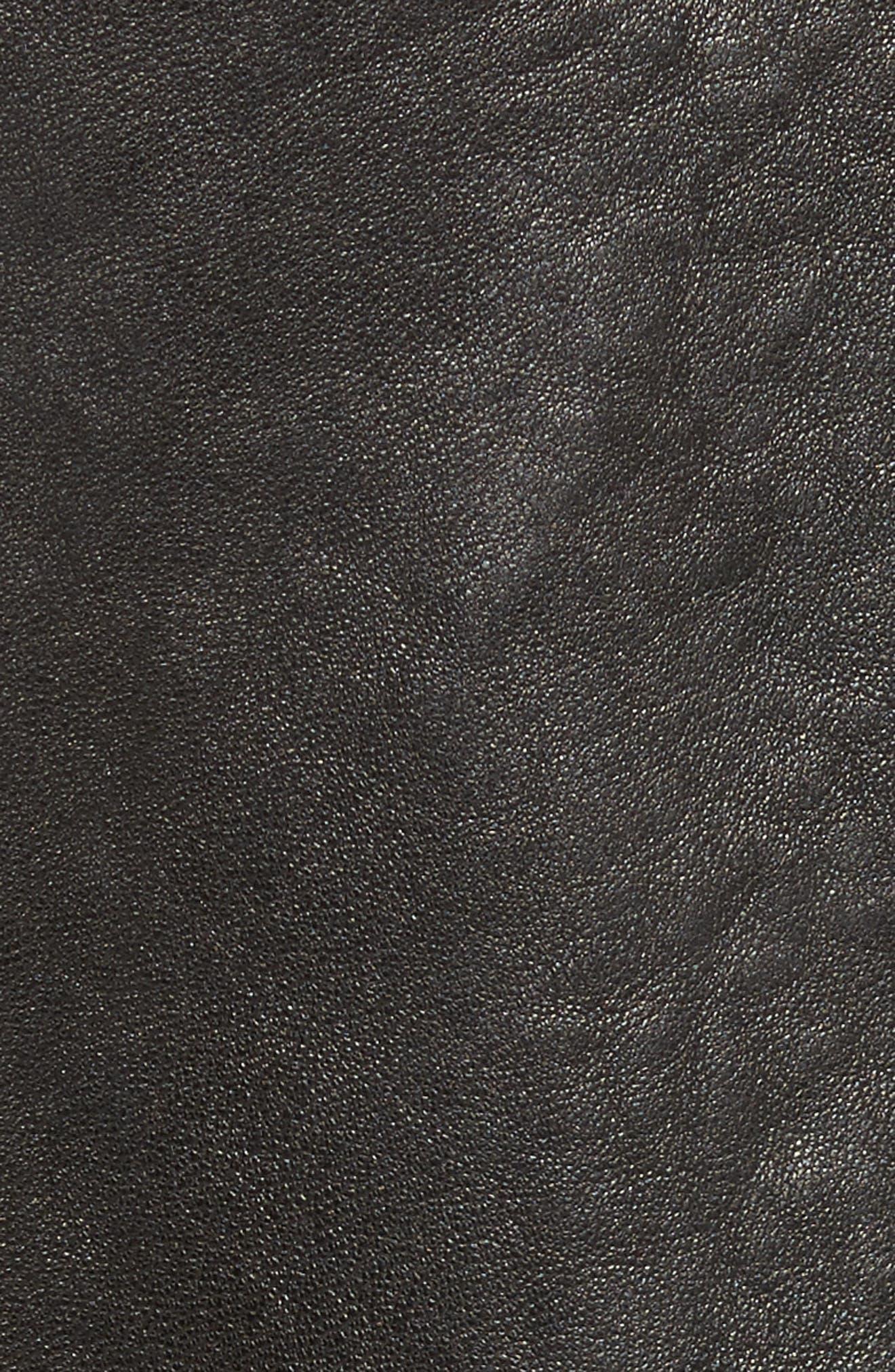 Paneled Leather & Suede Jacket,                             Alternate thumbnail 6, color,