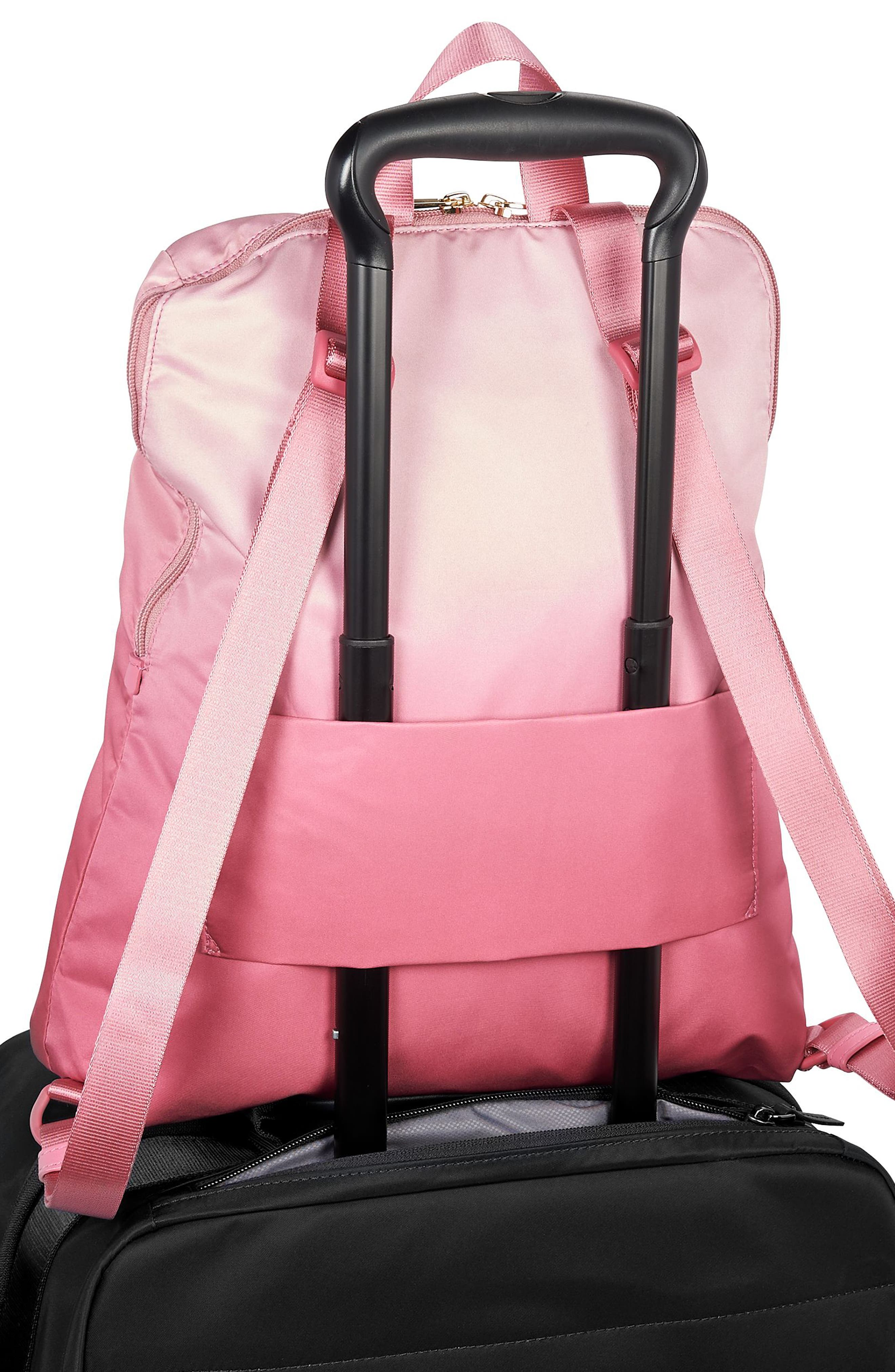 Voyageur - Just in Case Nylon Travel Backpack,                             Alternate thumbnail 5, color,                             PINK OMBRE