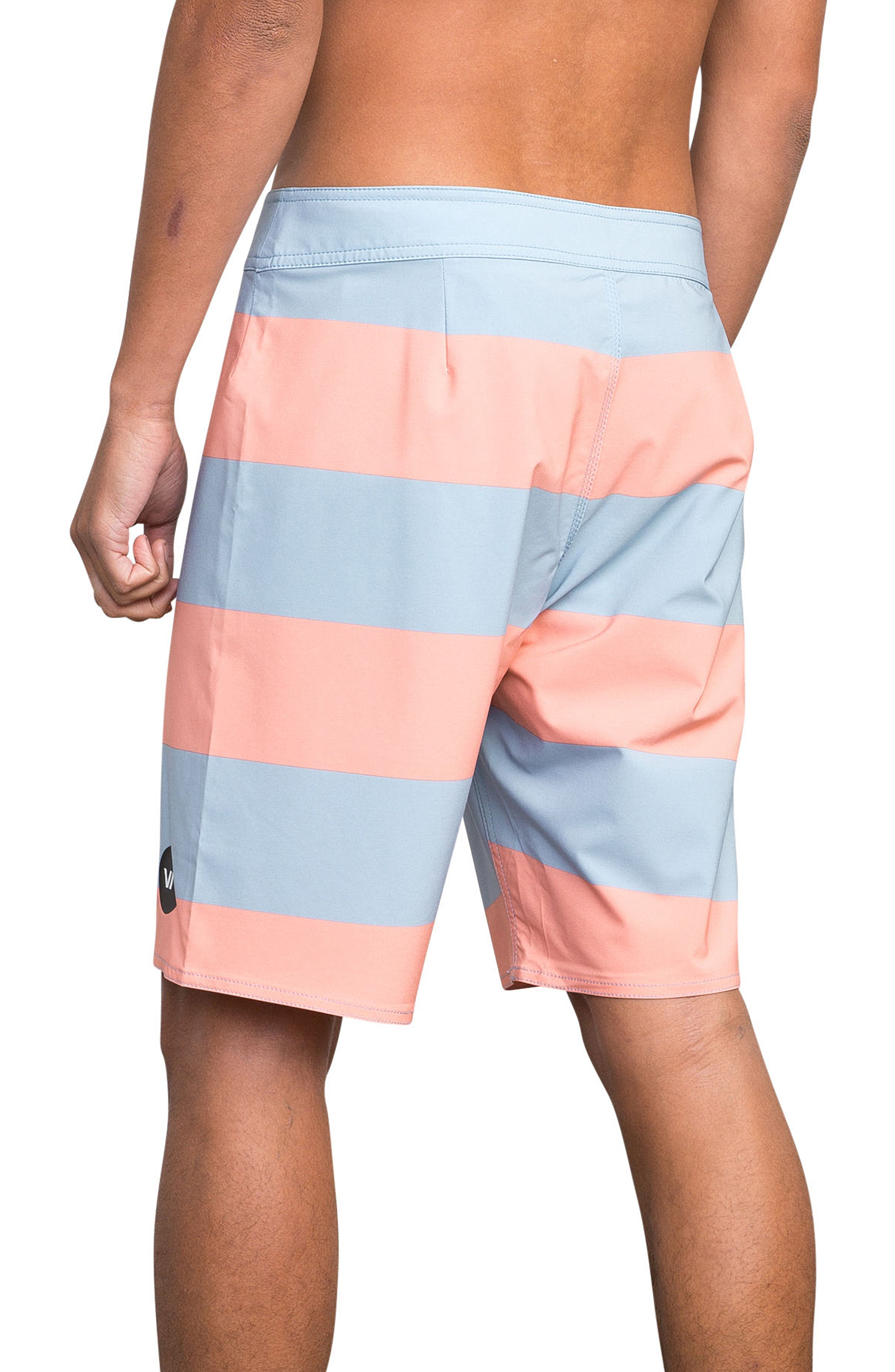 Uncivil Stripe Board Shorts,                             Alternate thumbnail 4, color,                             219