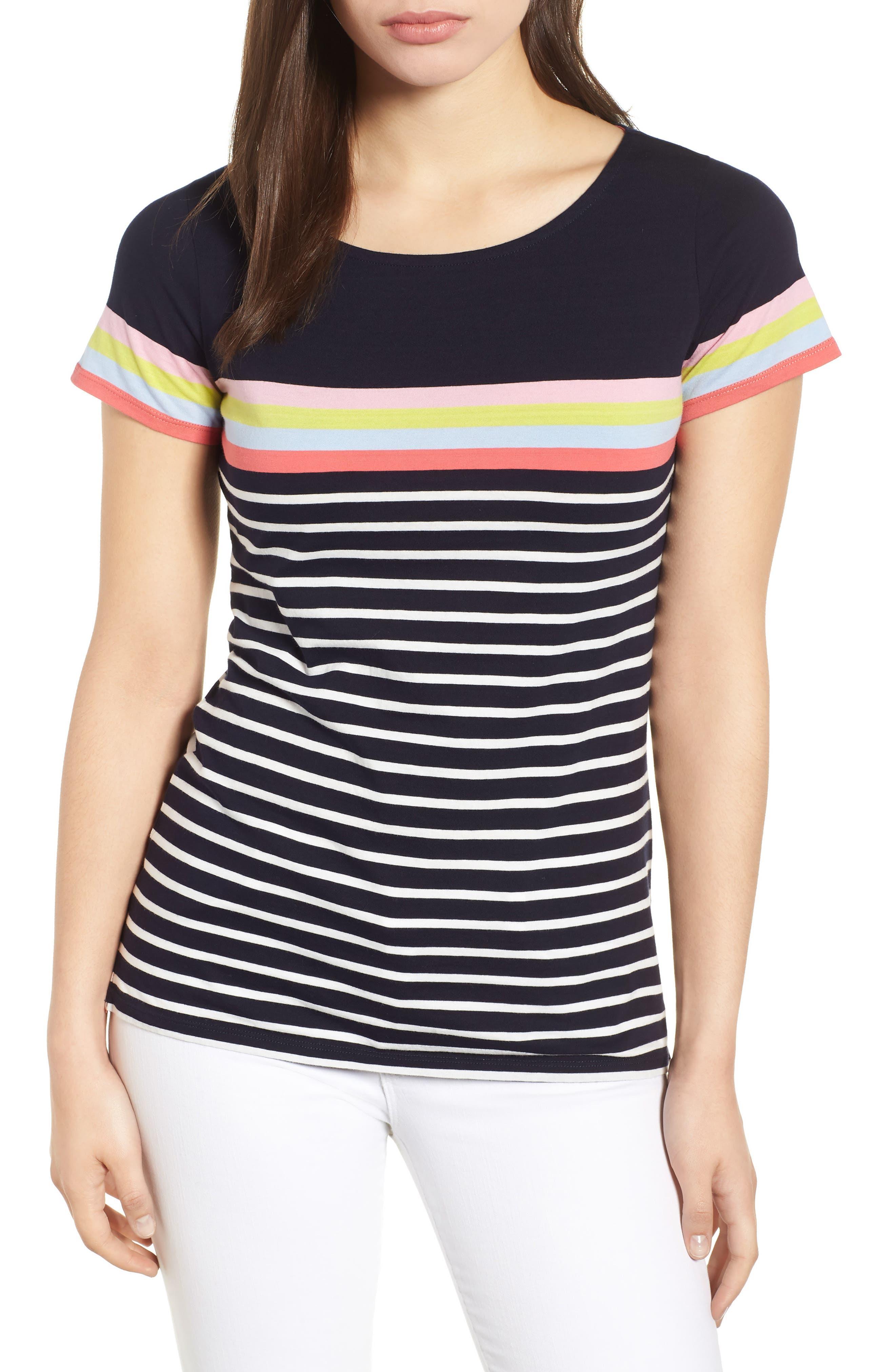 Breton Short Sleeve Stripe Cotton Top,                             Main thumbnail 2, color,