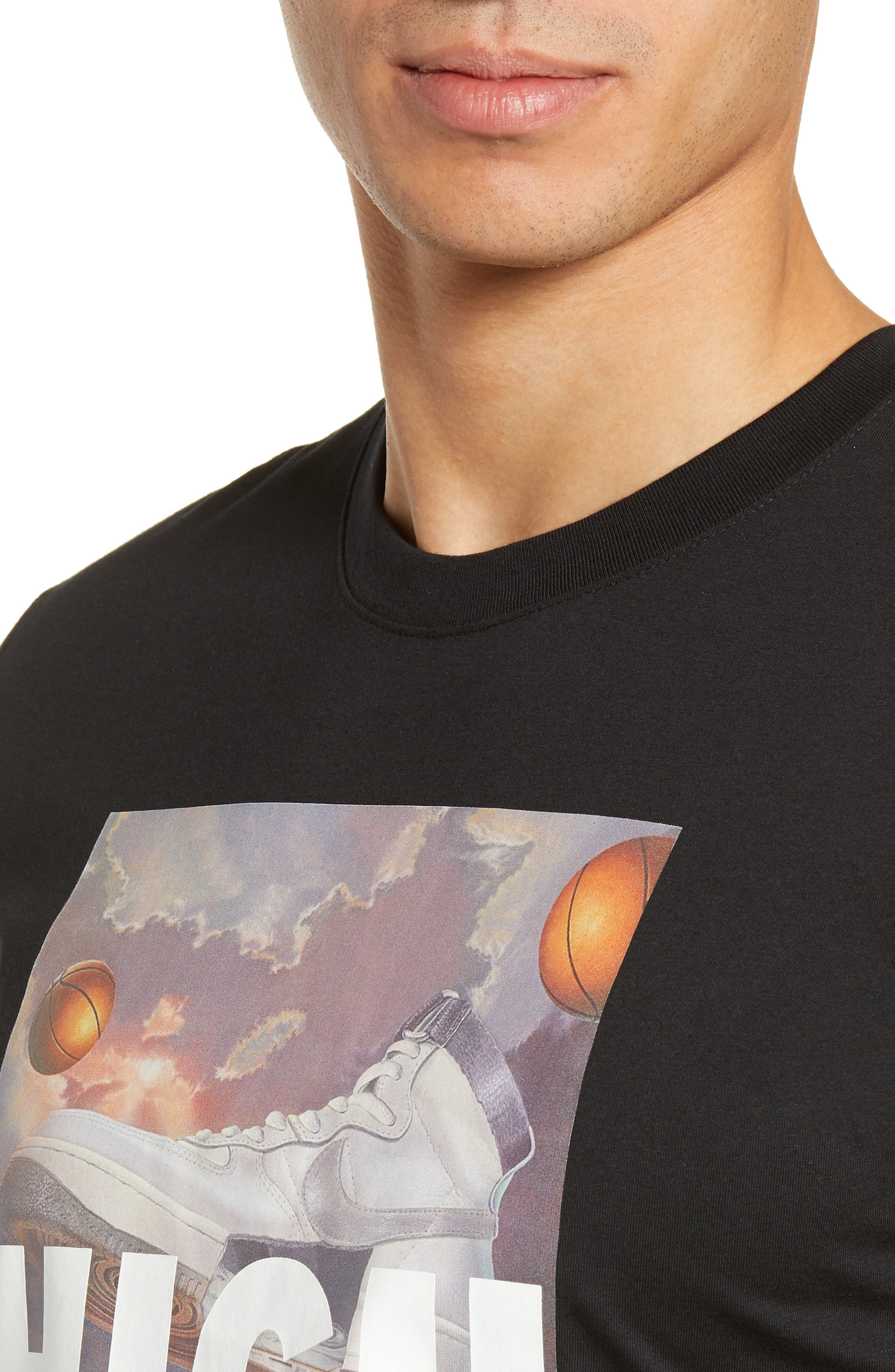 Air Force 1 T-Shirt,                             Alternate thumbnail 4, color,                             BLACK