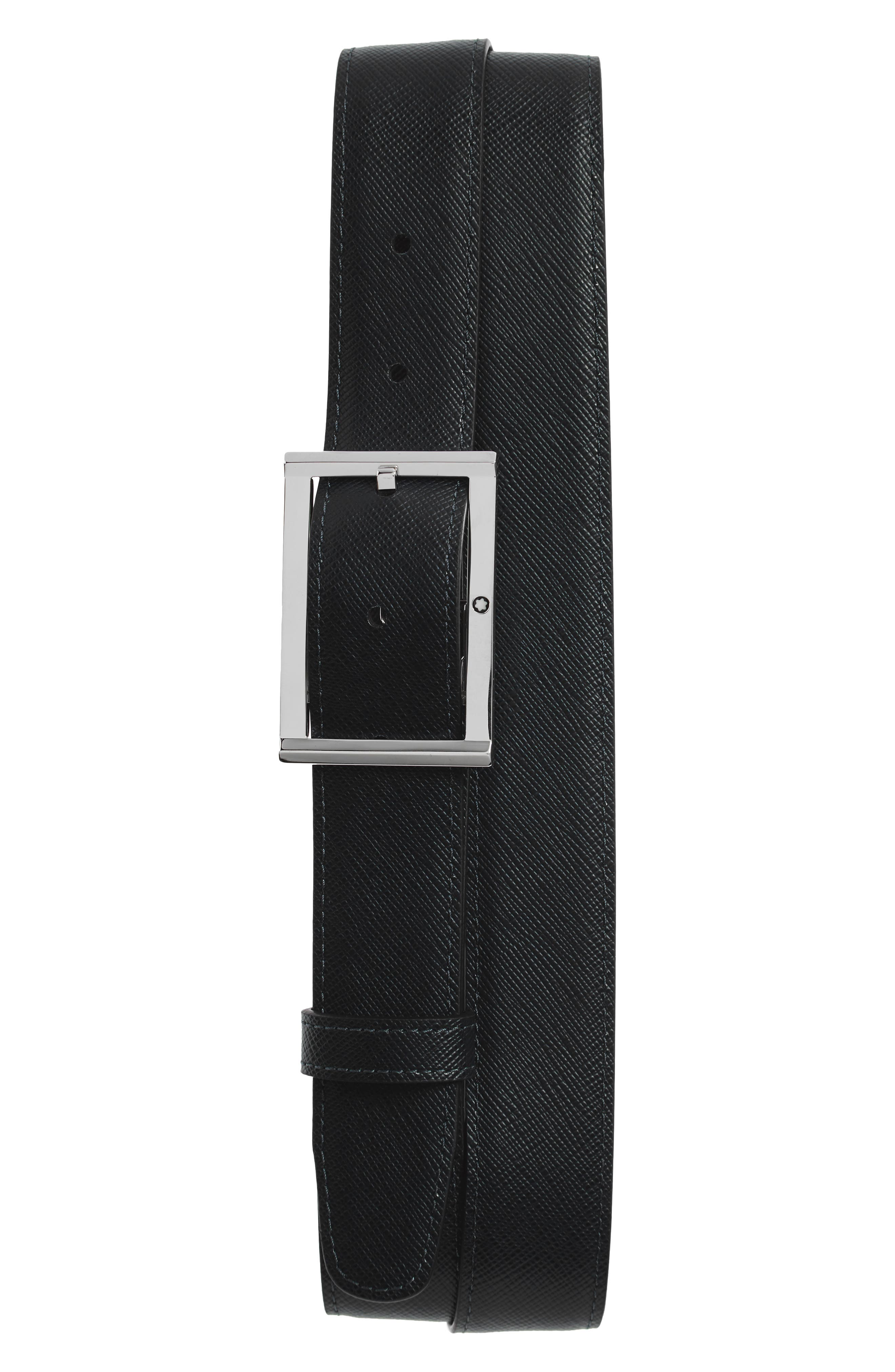 Reversible Leather Belt,                             Alternate thumbnail 2, color,                             001