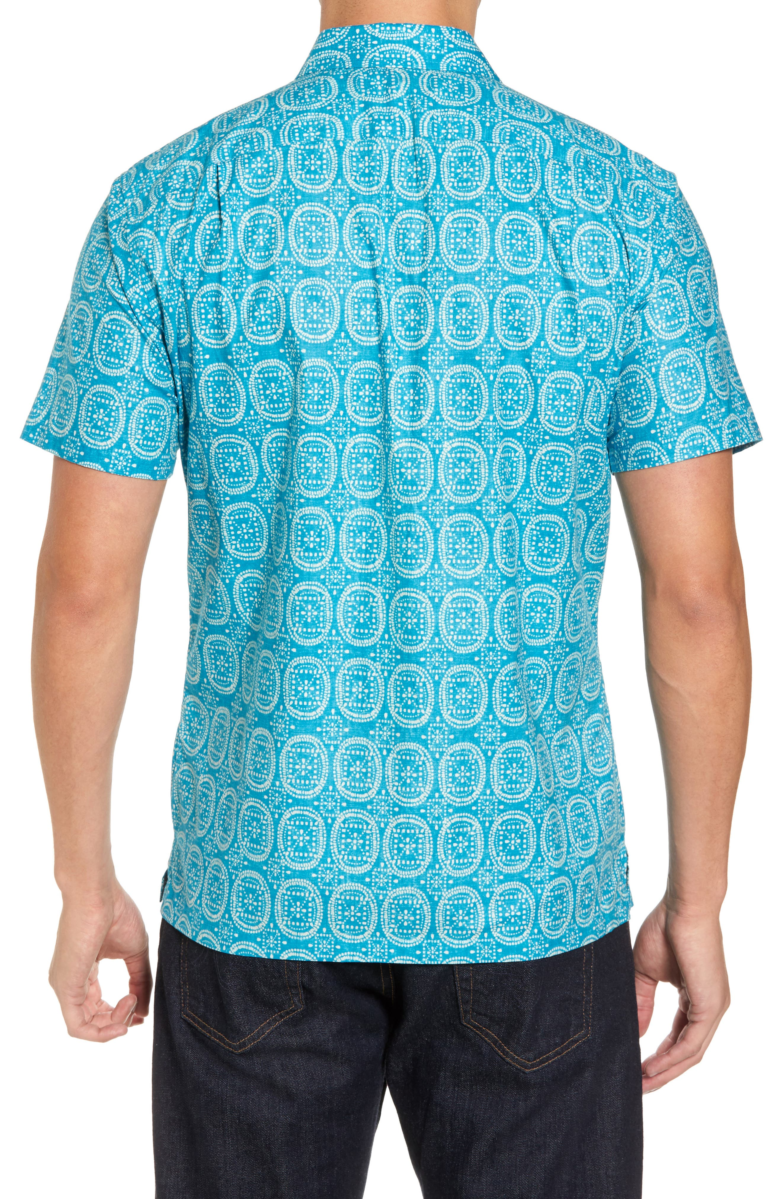 Sea Biscuits Trim Fit Print Sport Shirt,                             Alternate thumbnail 2, color,                             470