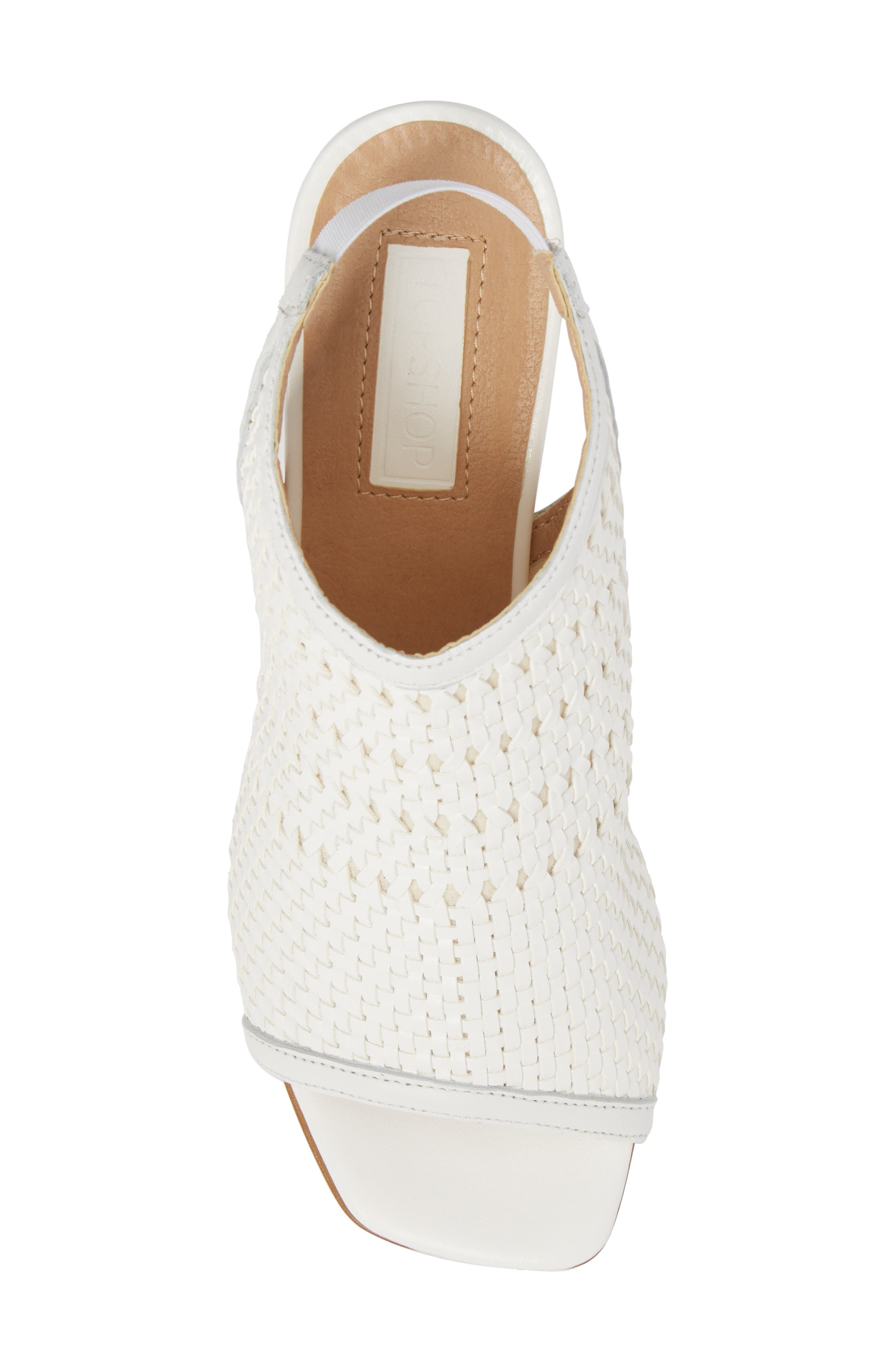 Nifty Woven Flared Heel Sandal,                             Alternate thumbnail 10, color,