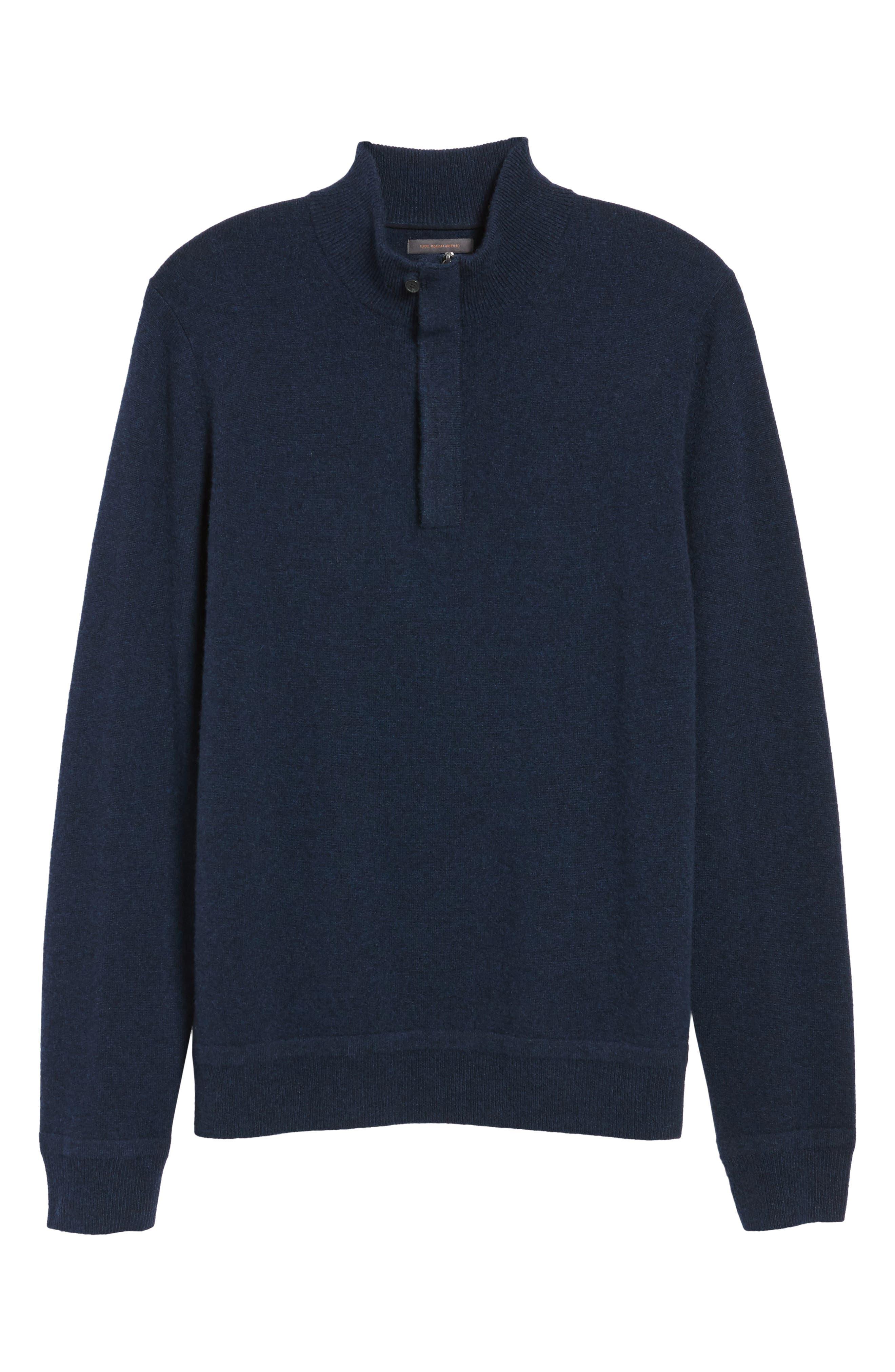 Cashmere Quarter Zip Sweater,                             Alternate thumbnail 34, color,