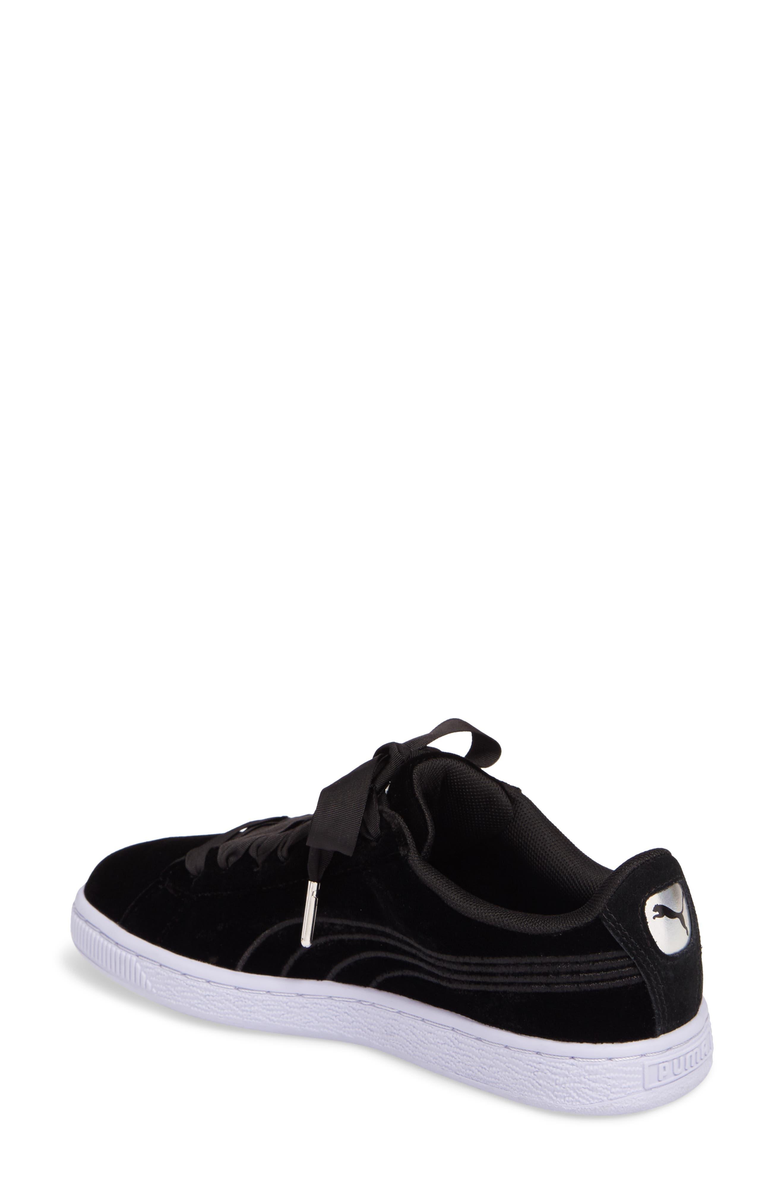 Basket Classic Velour Sneaker,                             Alternate thumbnail 2, color,                             001