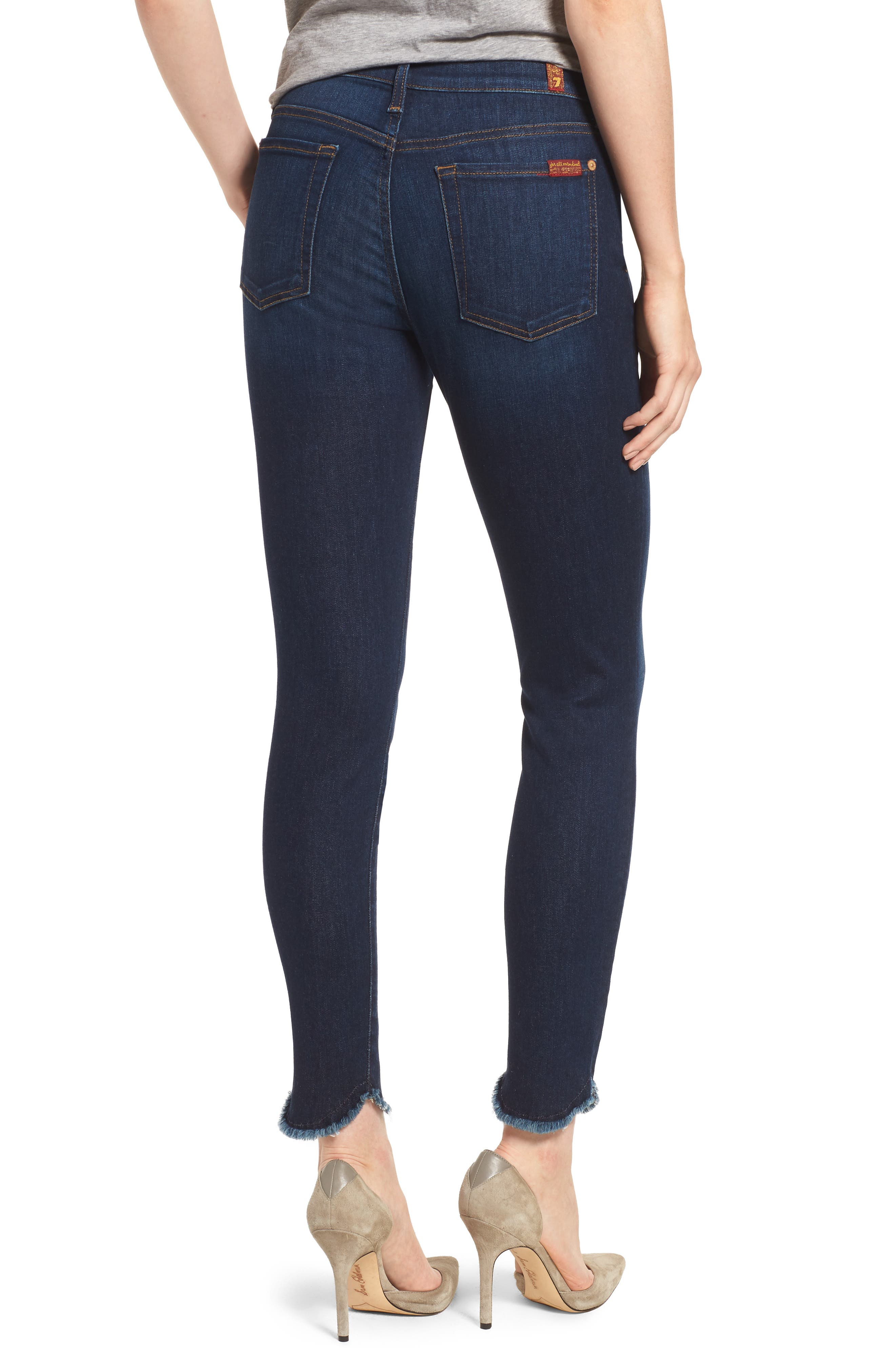 Scallop Hem Ankle Skinny Jeans,                             Alternate thumbnail 2, color,                             MIDNIGHT MOON