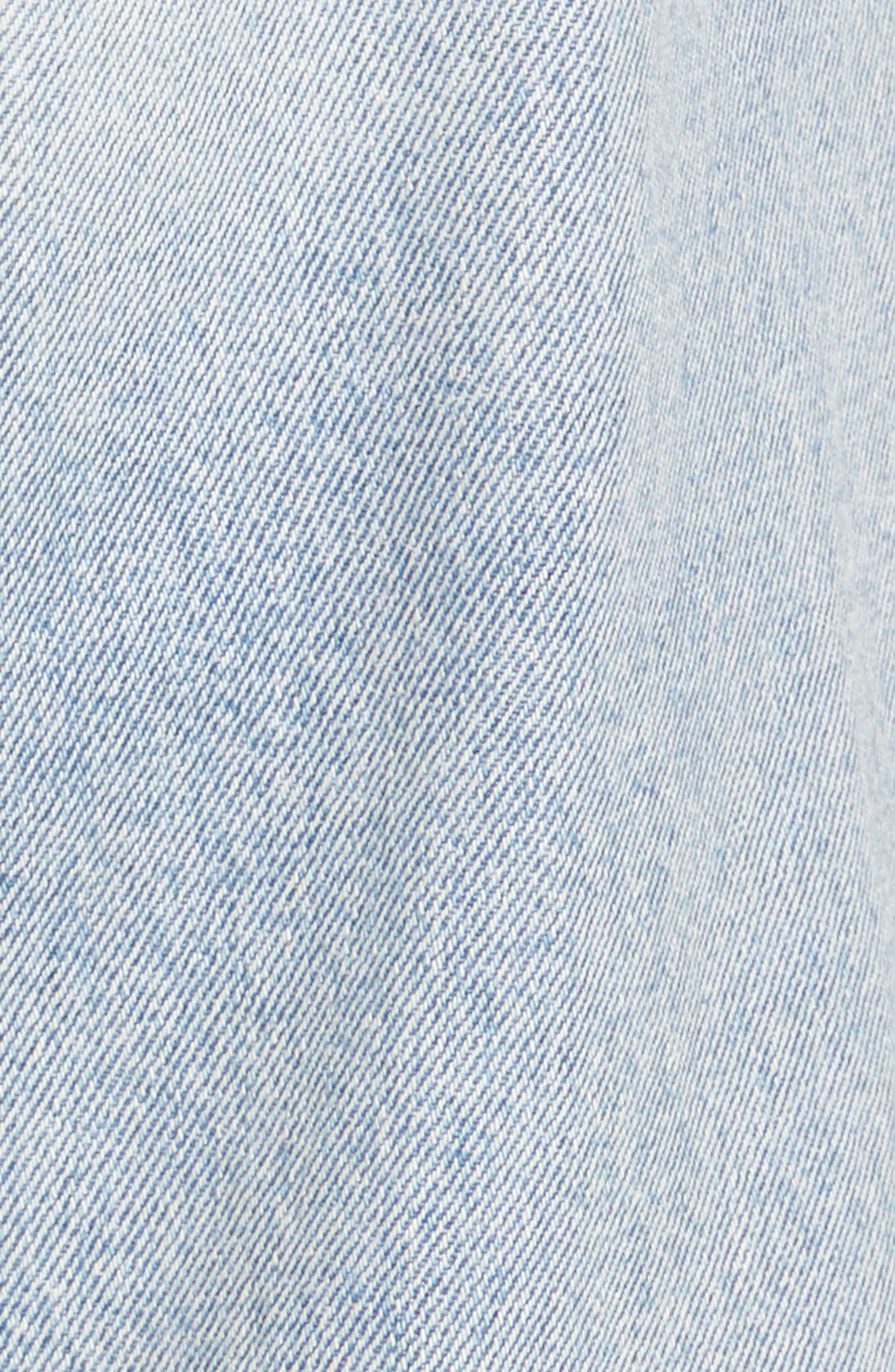 Ripped High Waist Straight Leg Jeans,                             Alternate thumbnail 5, color,                             457
