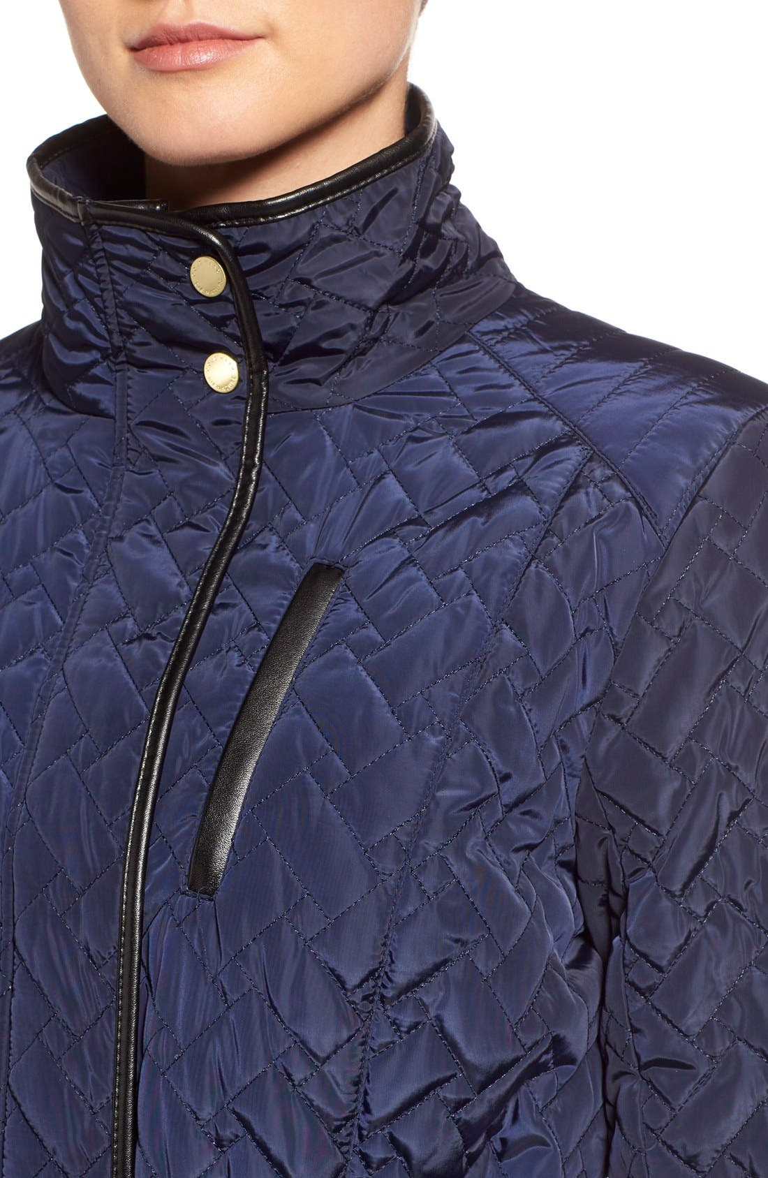 Belted Quilted Coat,                             Alternate thumbnail 11, color,