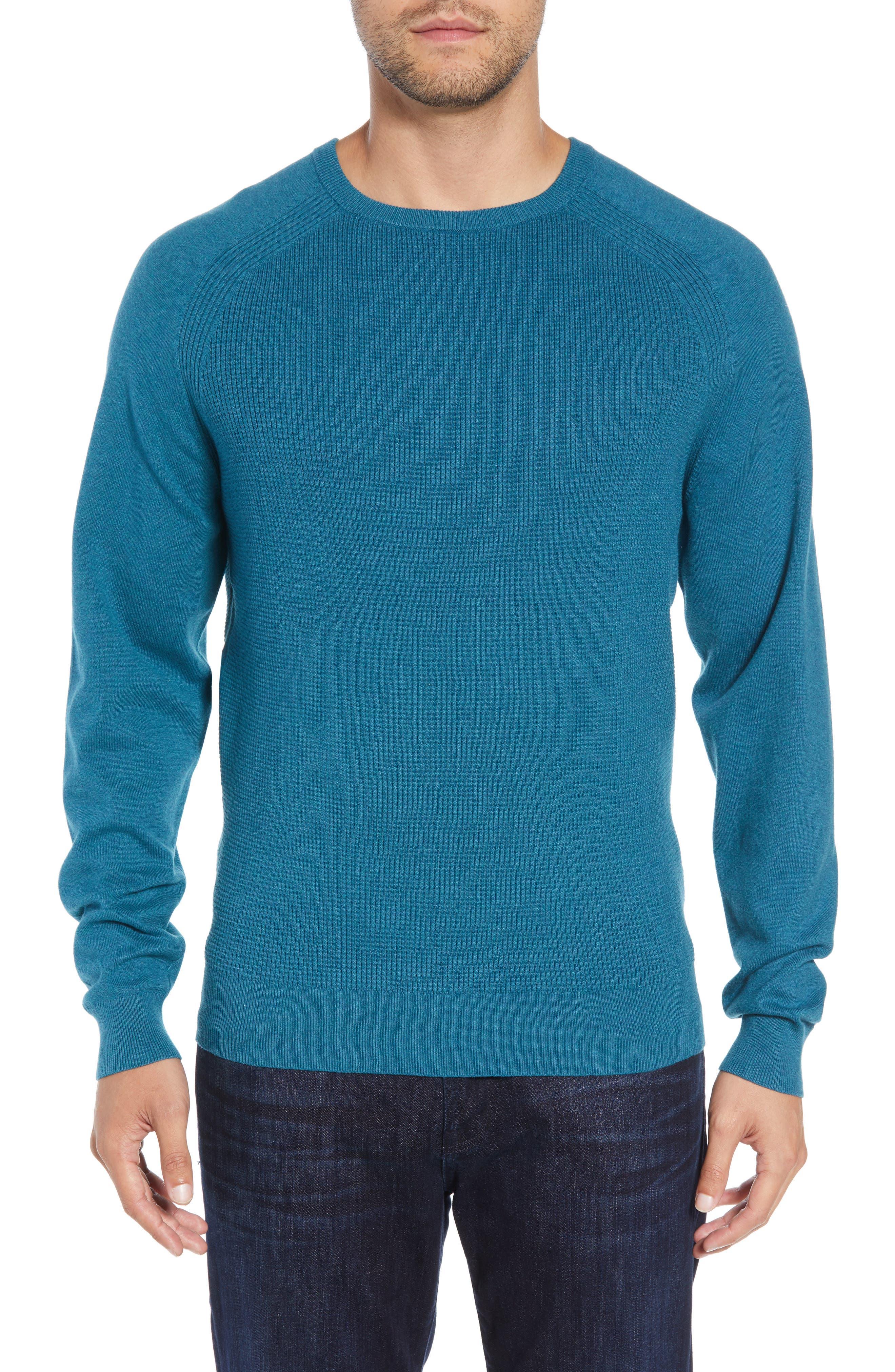 Cutter & Buck Lakemon Mix Crewneck Sweater, Blue