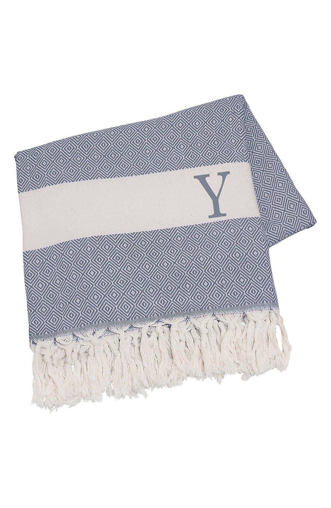 Monogram Turkish Cotton Throw,                             Main thumbnail 80, color,