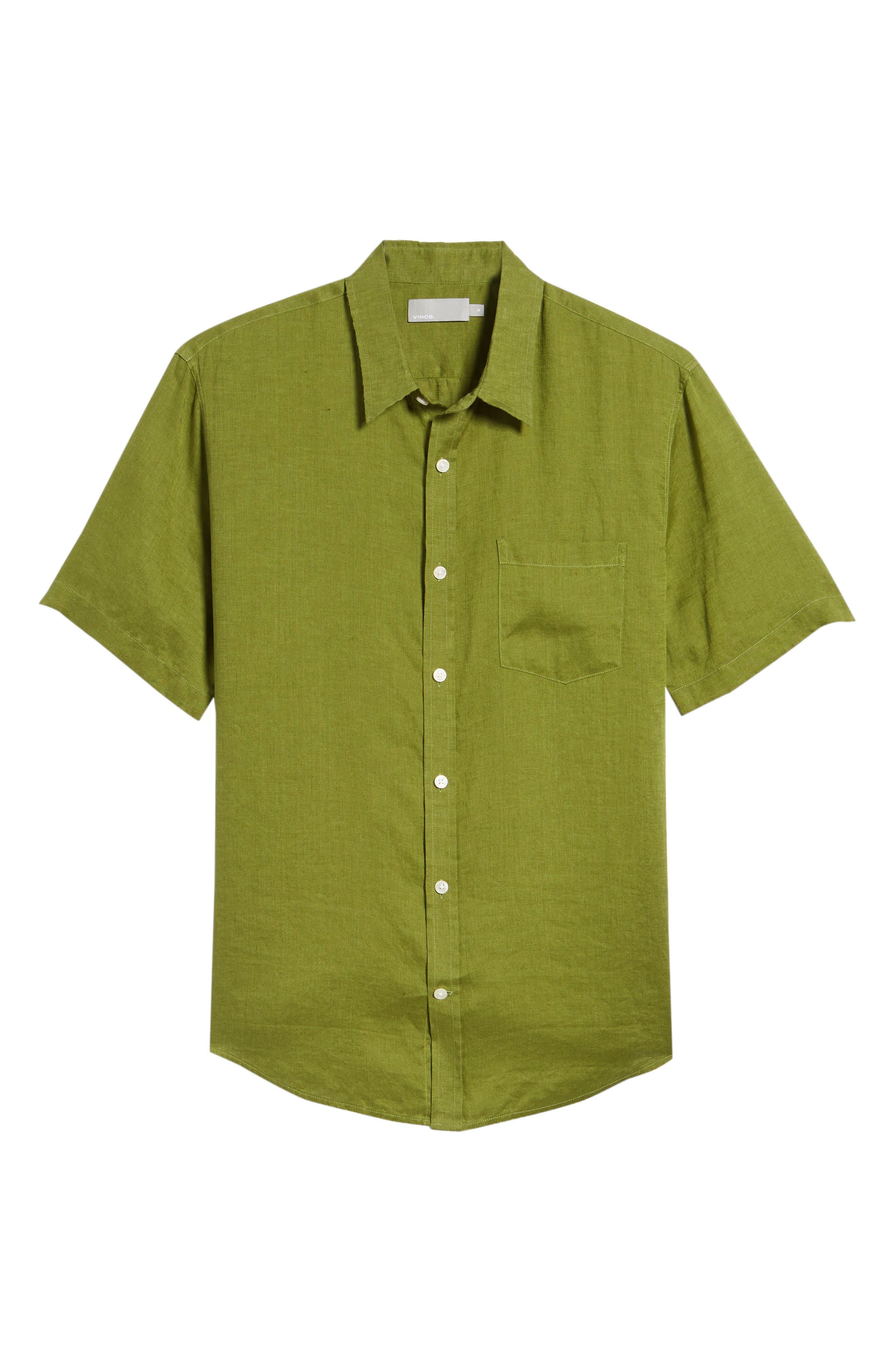 Classic Fit Sport Shirt,                             Alternate thumbnail 6, color,                             PASTURE