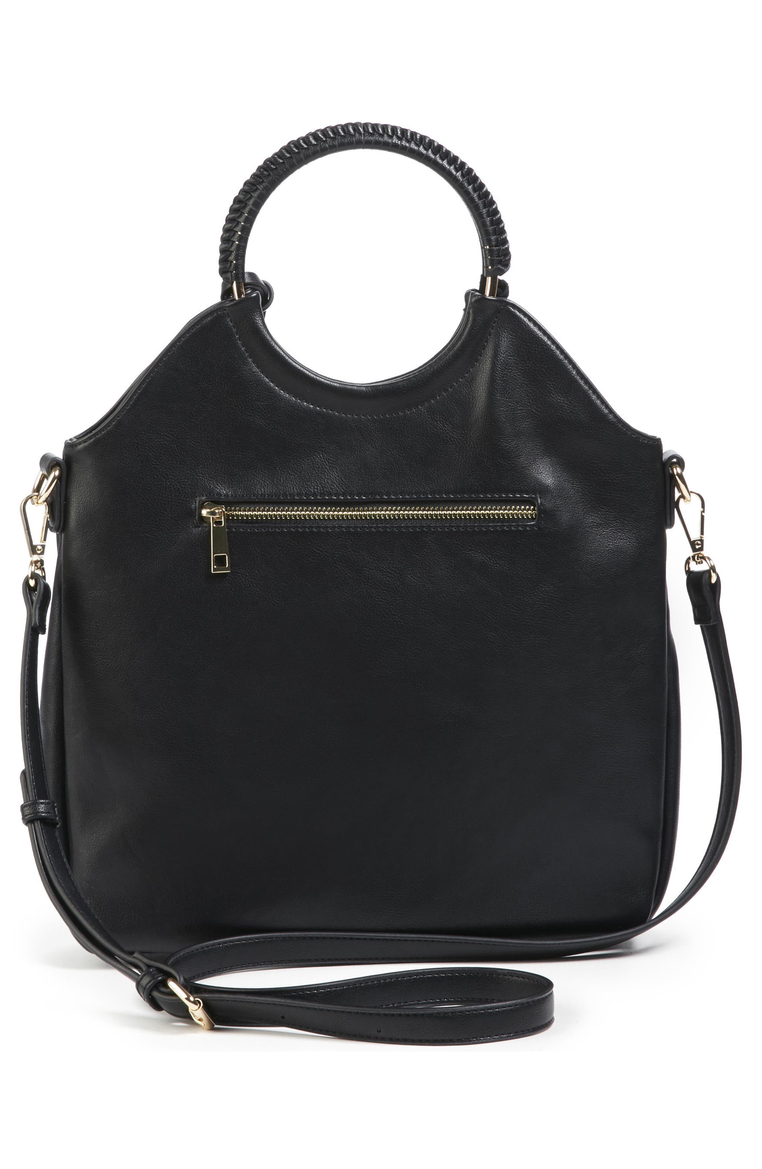 Faux Leather Bracelet Bag,                             Alternate thumbnail 2, color,                             001