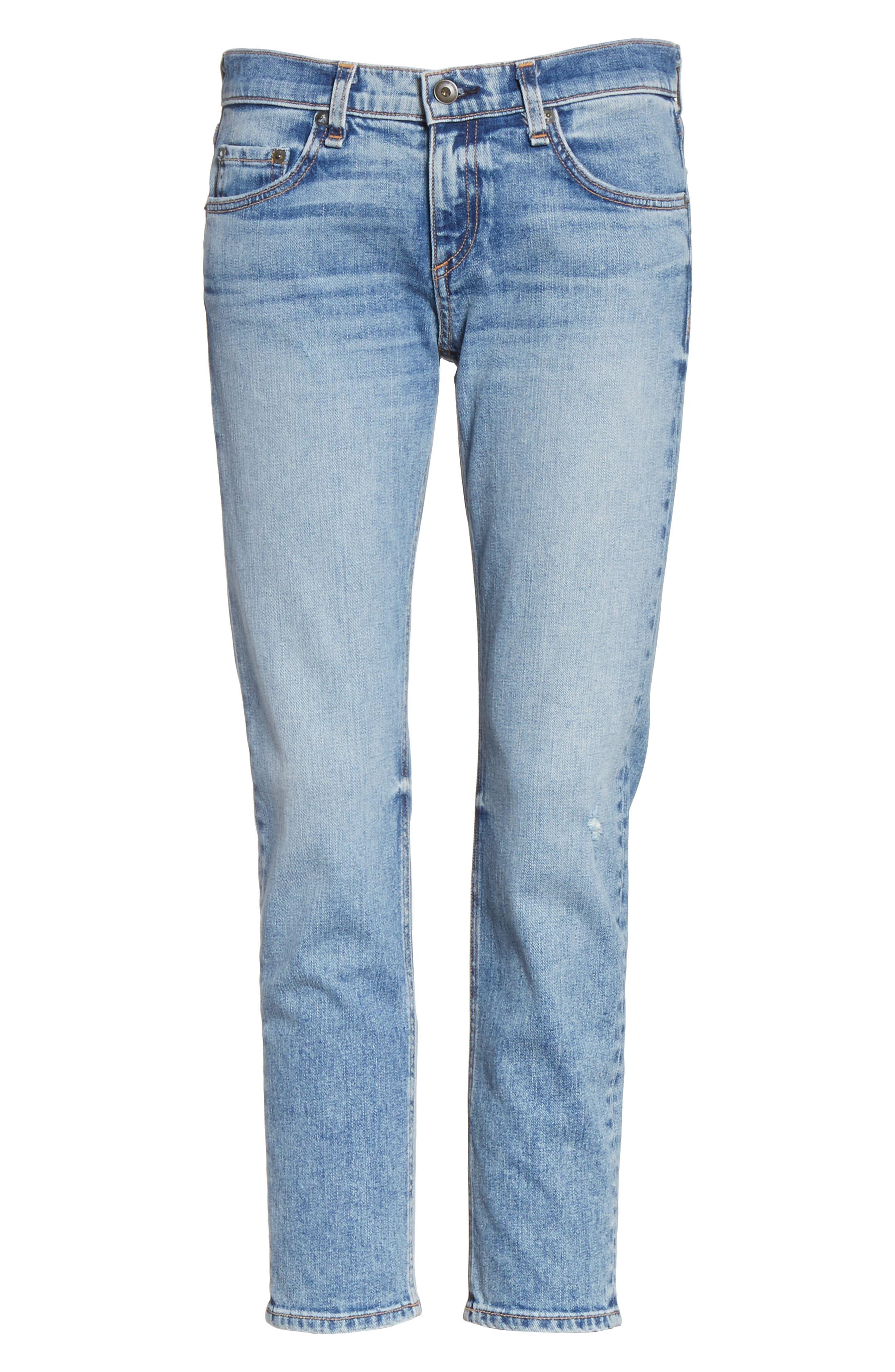The Dre Ankle Slim Boyfriend Jeans,                             Alternate thumbnail 6, color,                             420