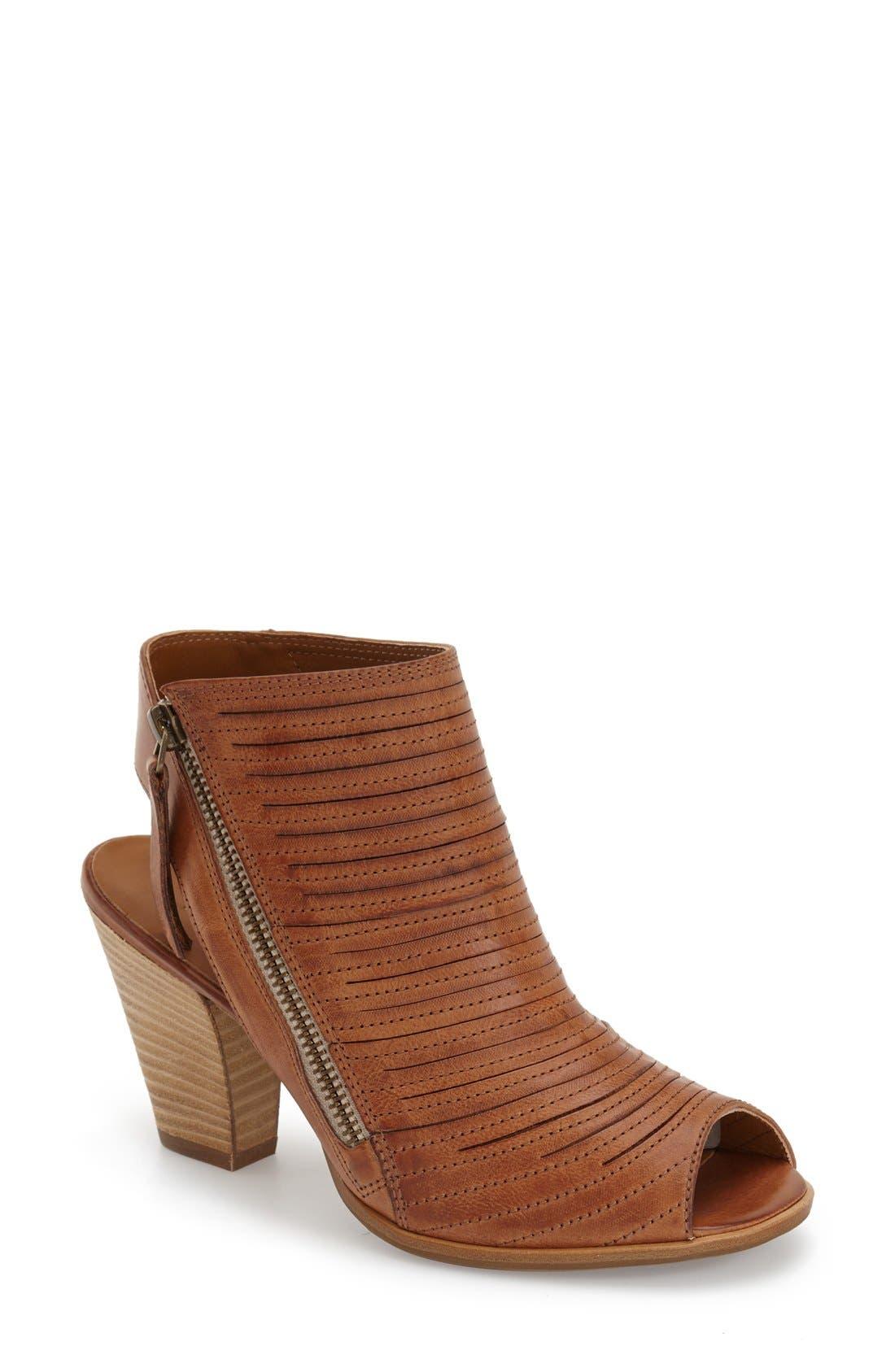 'Cayanne' Leather Peep Toe Sandal,                             Main thumbnail 4, color,