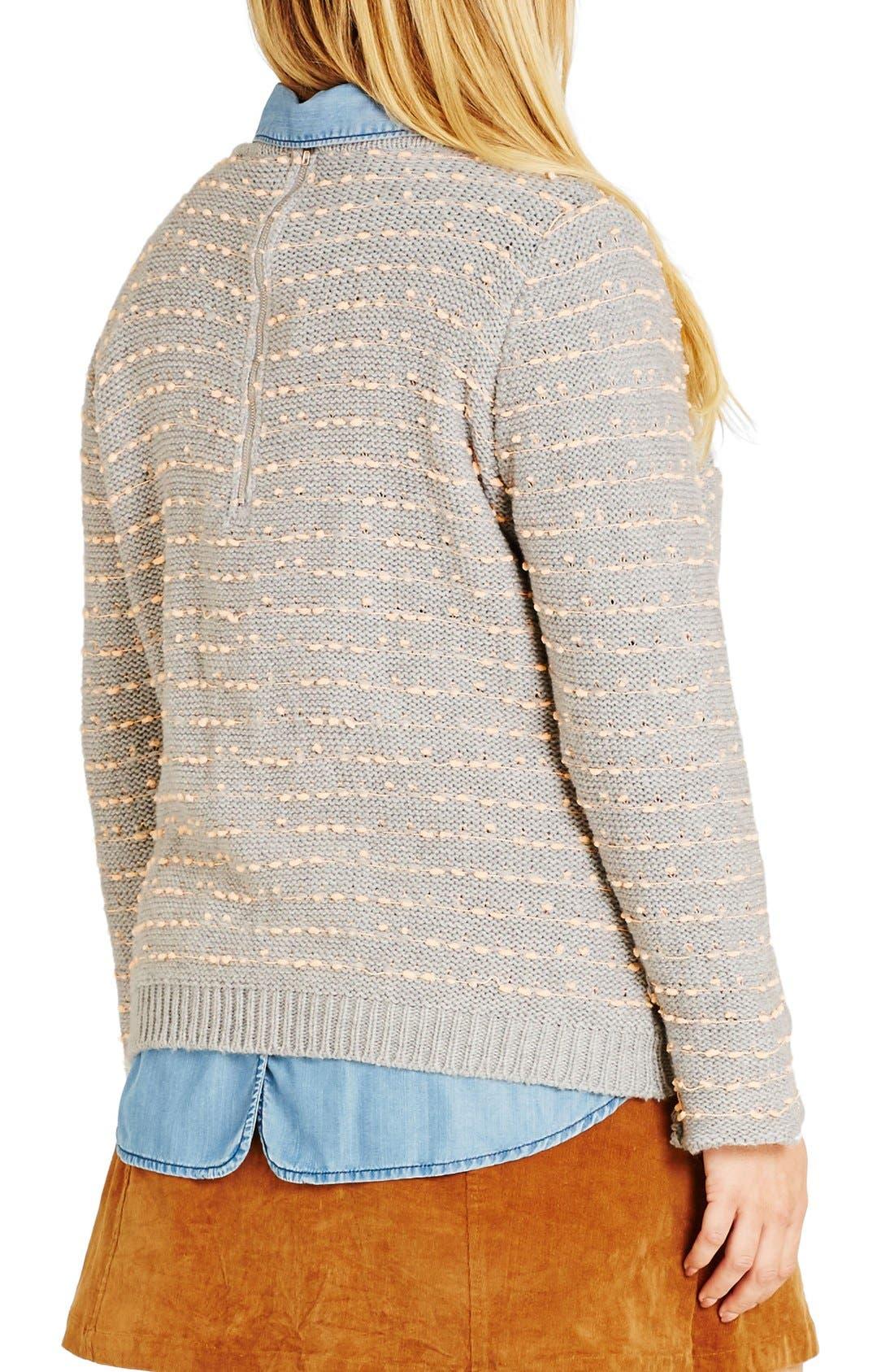 Back Zip Color Pop Sweater,                             Alternate thumbnail 2, color,                             080