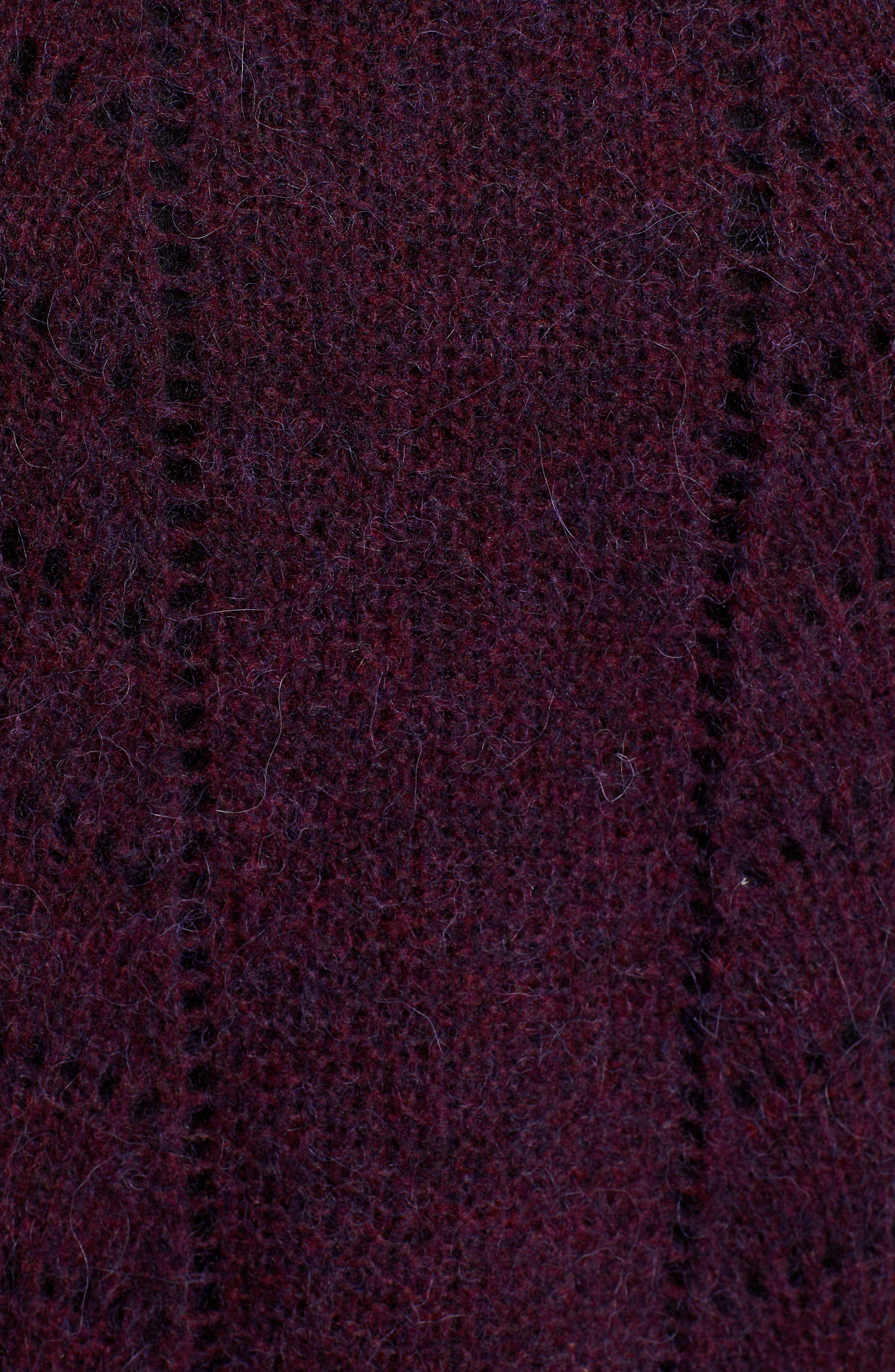 Mara Sweater,                             Alternate thumbnail 5, color,                             BLACKBERRY