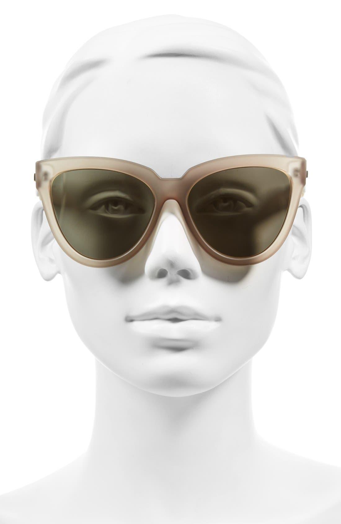'Liar Liar' 57mm Sunglasses,                             Alternate thumbnail 4, color,                             020