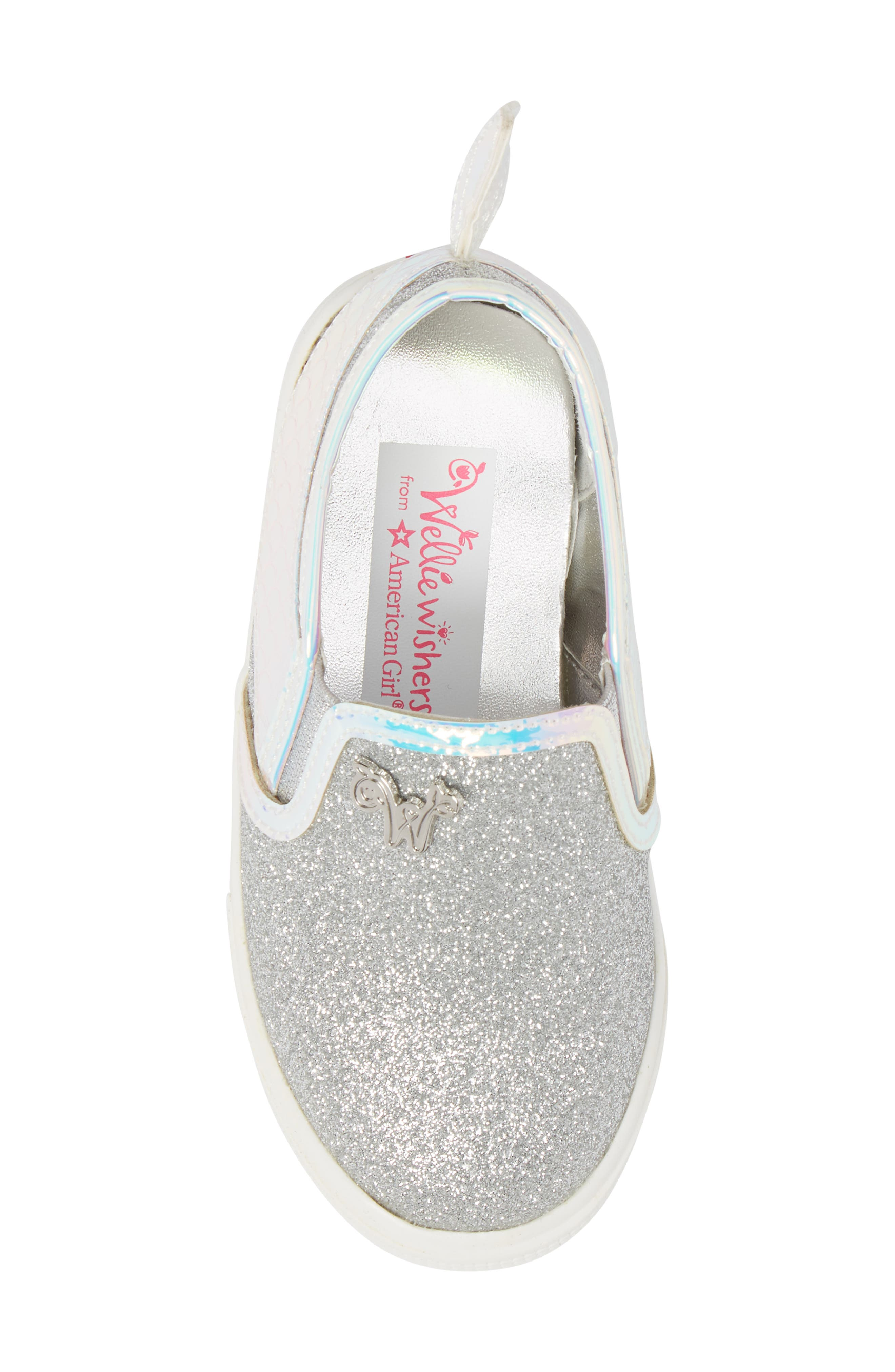 Camille Mermaid Glitter Sneaker,                             Alternate thumbnail 5, color,                             040