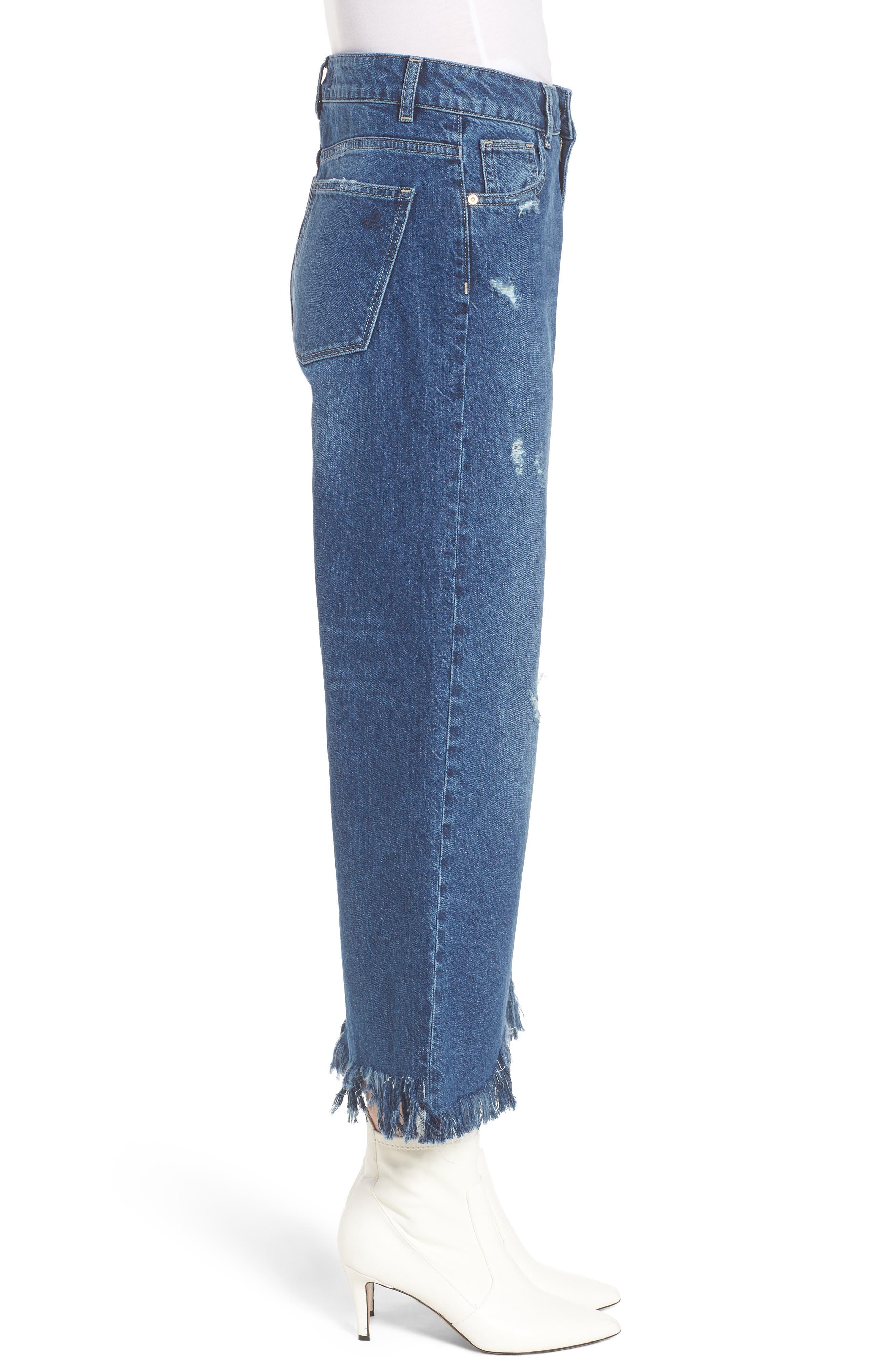 Hepburn High Waist Wide Leg Jeans,                             Alternate thumbnail 3, color,