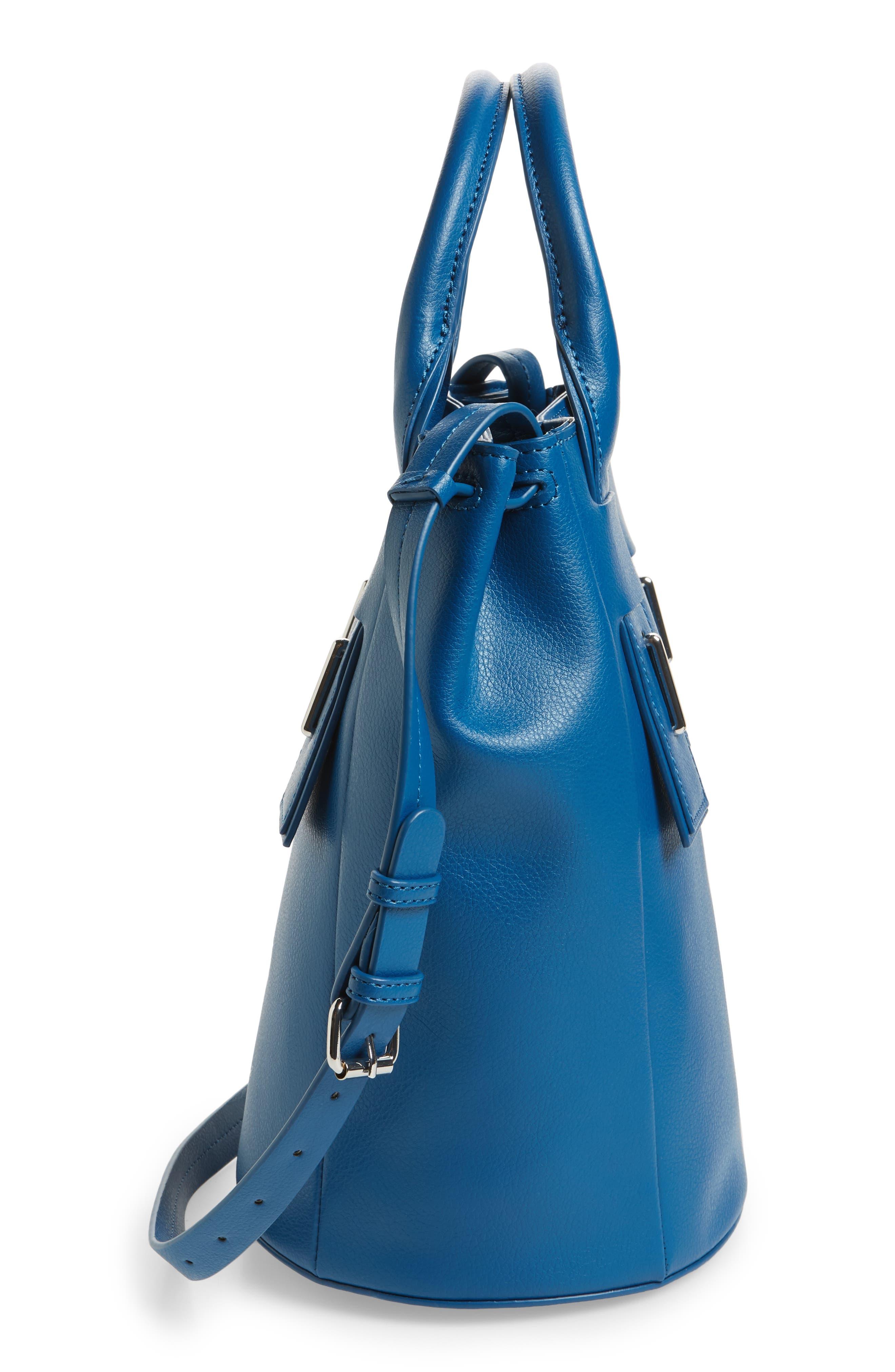 Lennon Leather Bucket Bag,                             Alternate thumbnail 5, color,                             400