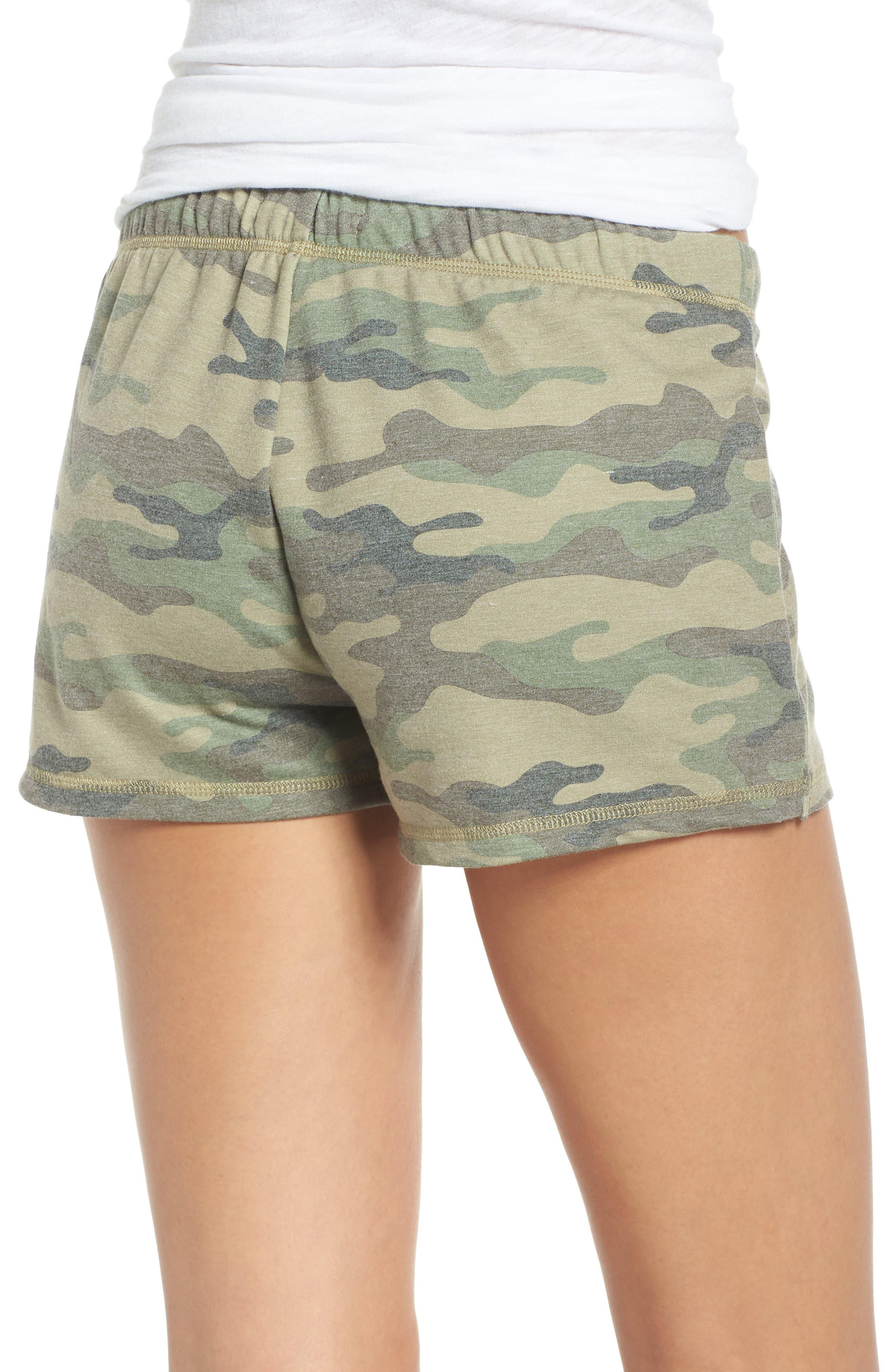 Pajama Shorts,                             Alternate thumbnail 2, color,                             OLIVE