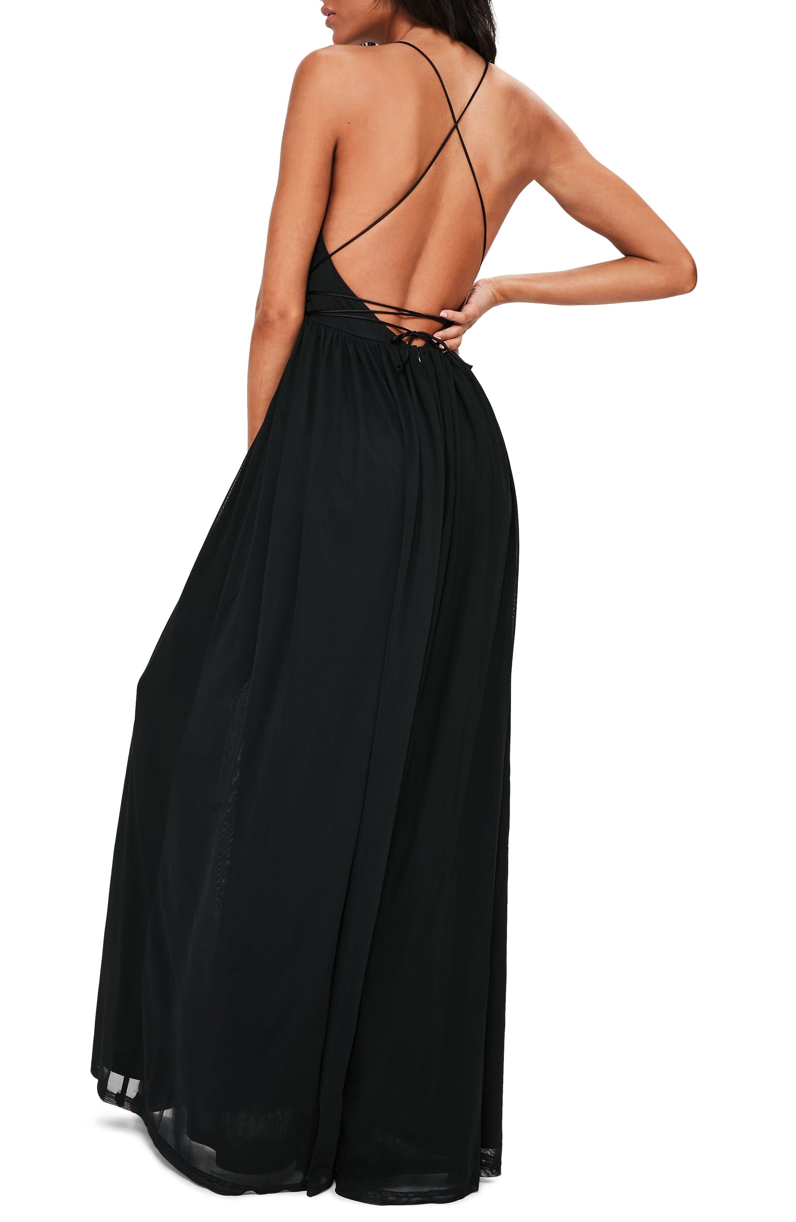 Plunging Maxi Dress,                             Alternate thumbnail 2, color,