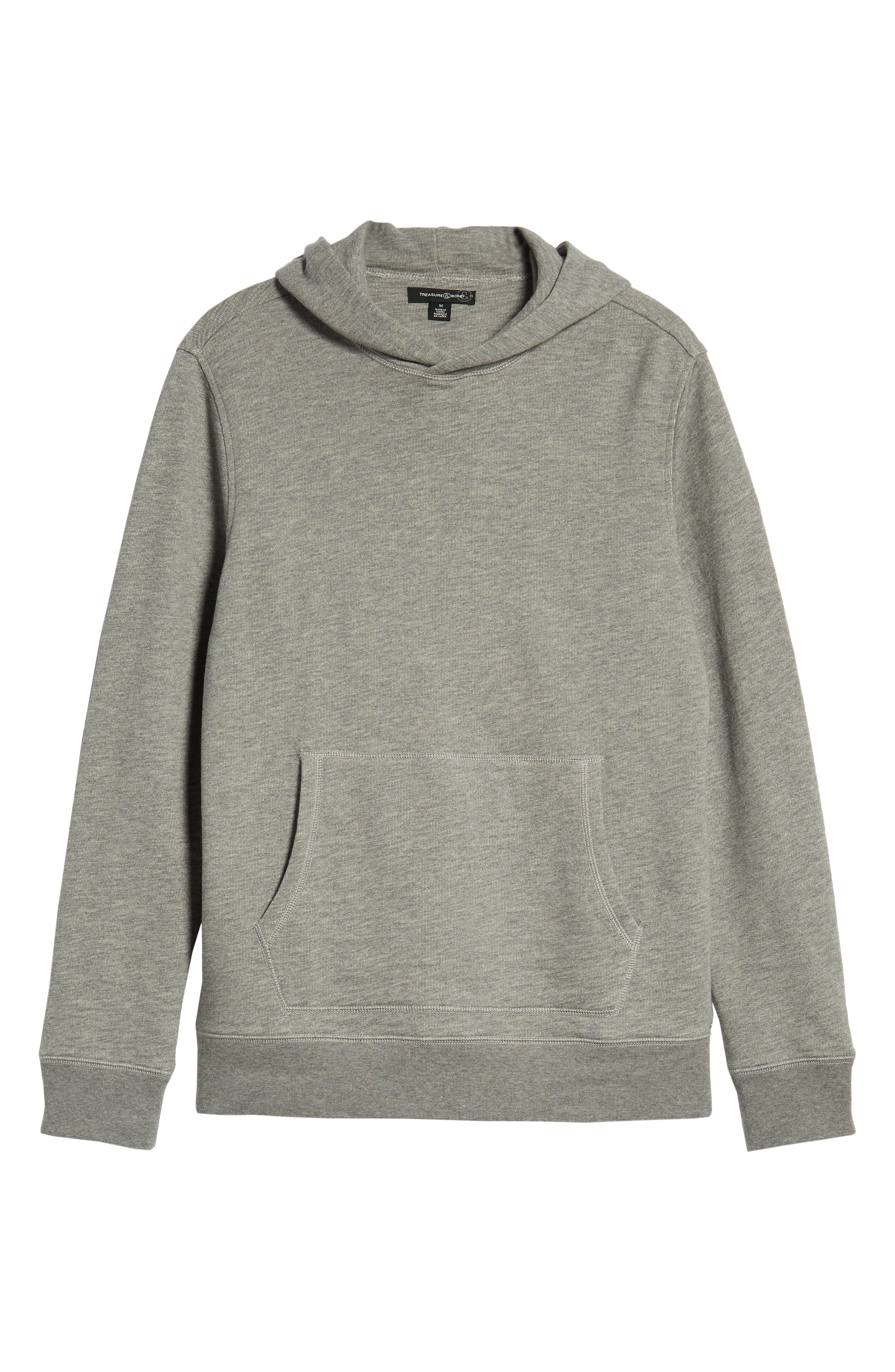 Regular Fit French Terry Pullover Hoodie,                             Alternate thumbnail 6, color,                             030