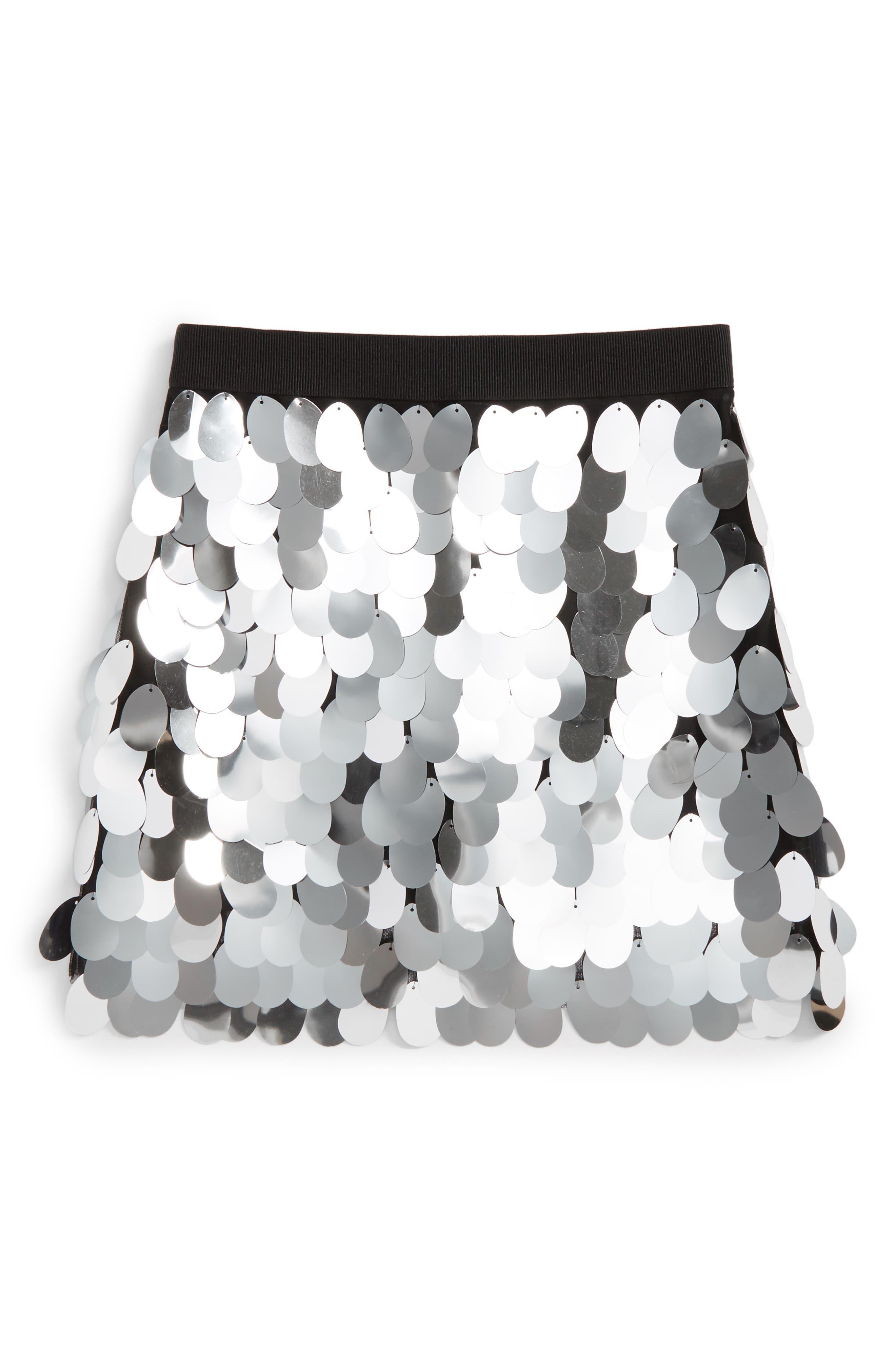 Paillette Sequin Skirt,                             Main thumbnail 1, color,                             041